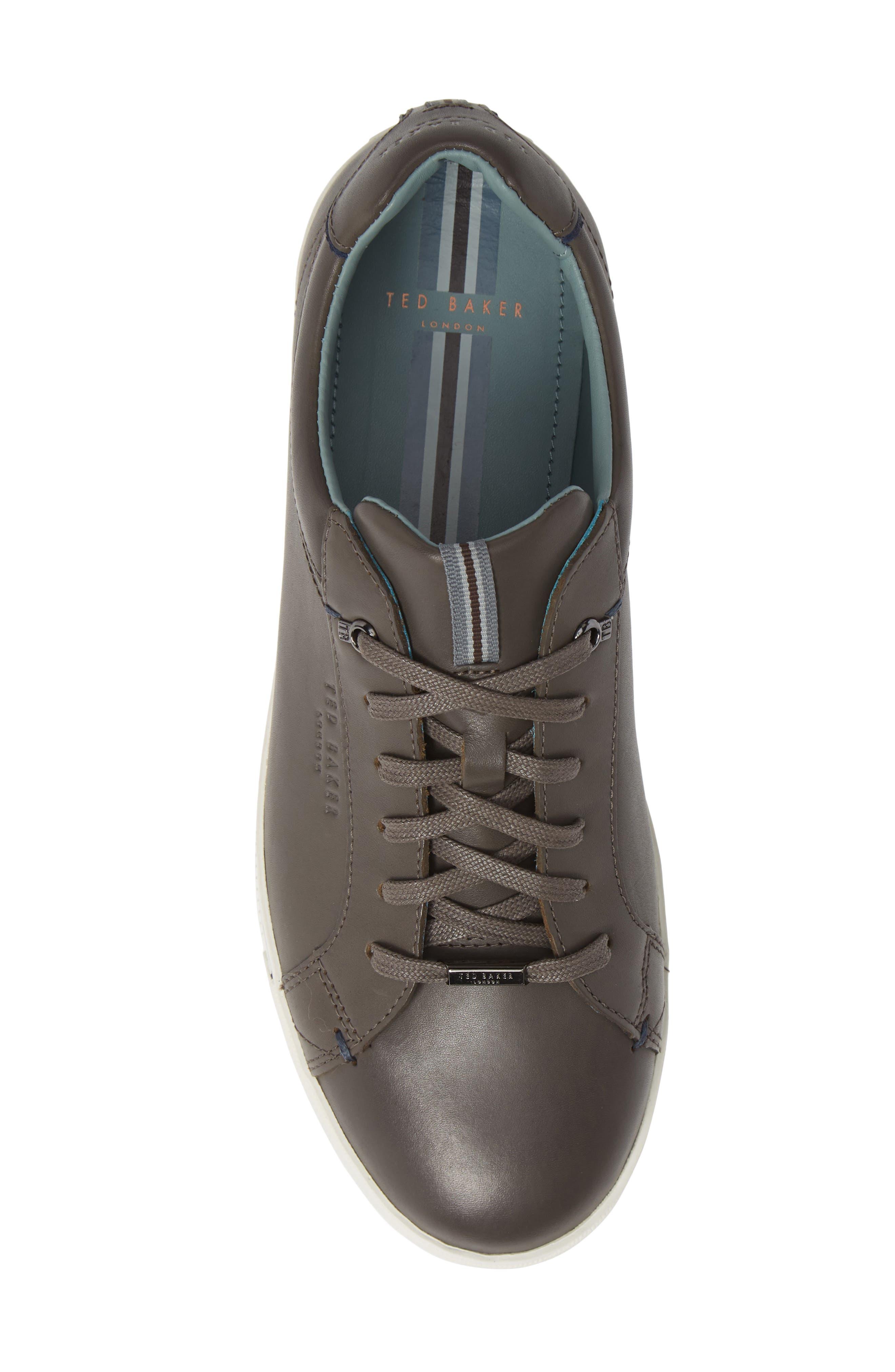 Thawne Sneaker,                             Alternate thumbnail 5, color,                             DARK GREY LEATHER