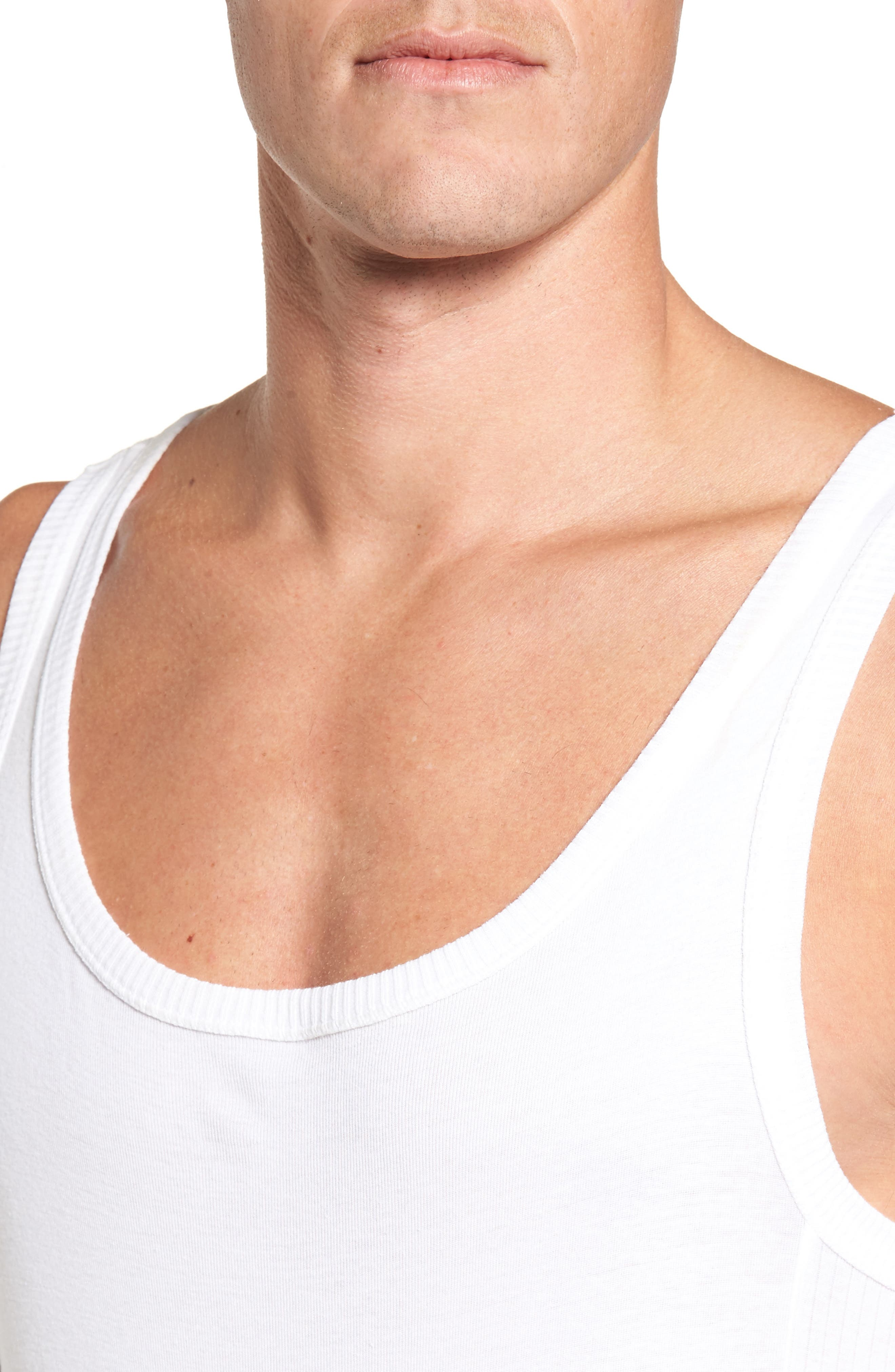 Ribbed Singlet,                             Alternate thumbnail 4, color,                             100