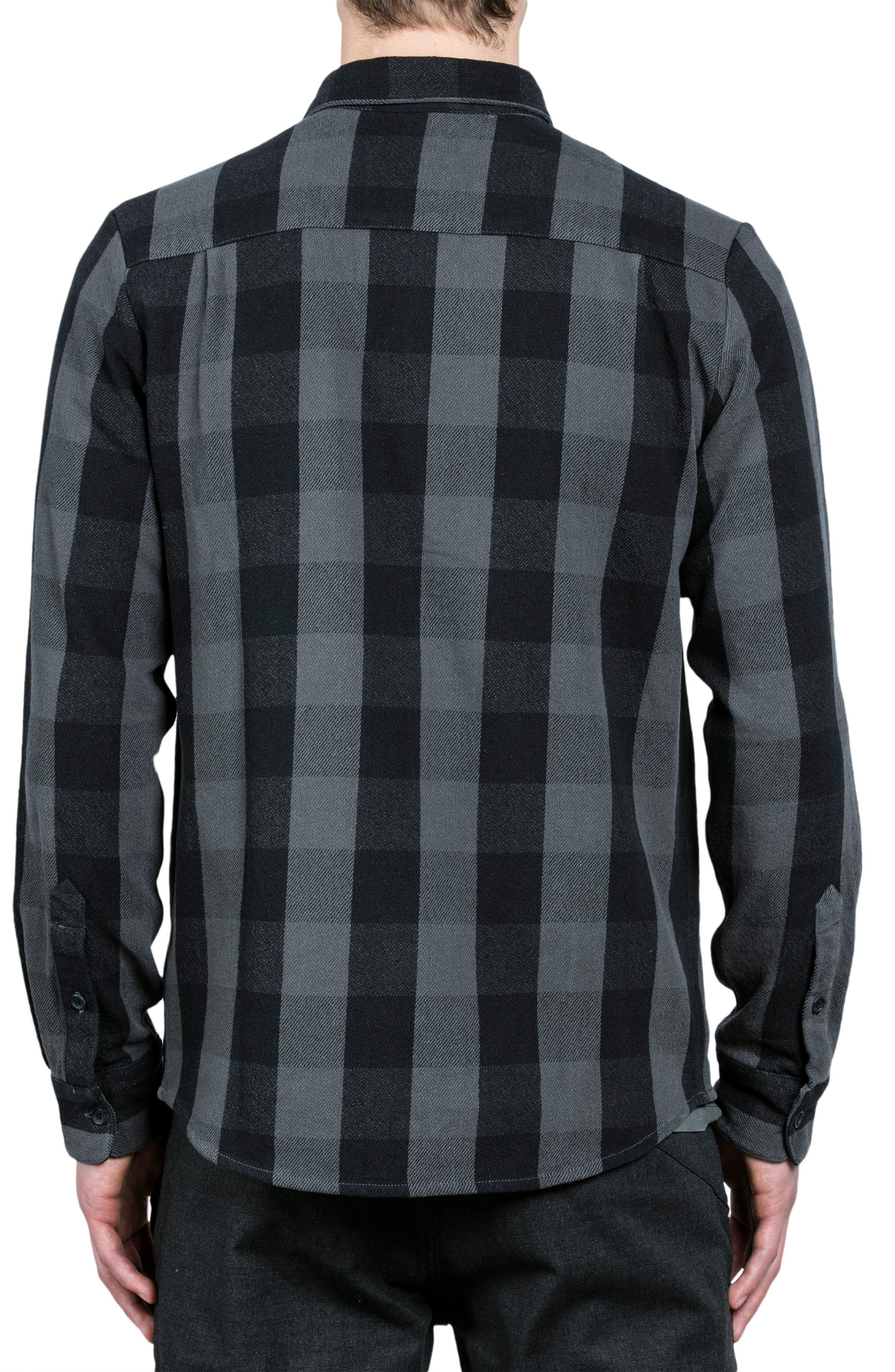 Invert Check Flannel Shirt,                             Alternate thumbnail 3, color,