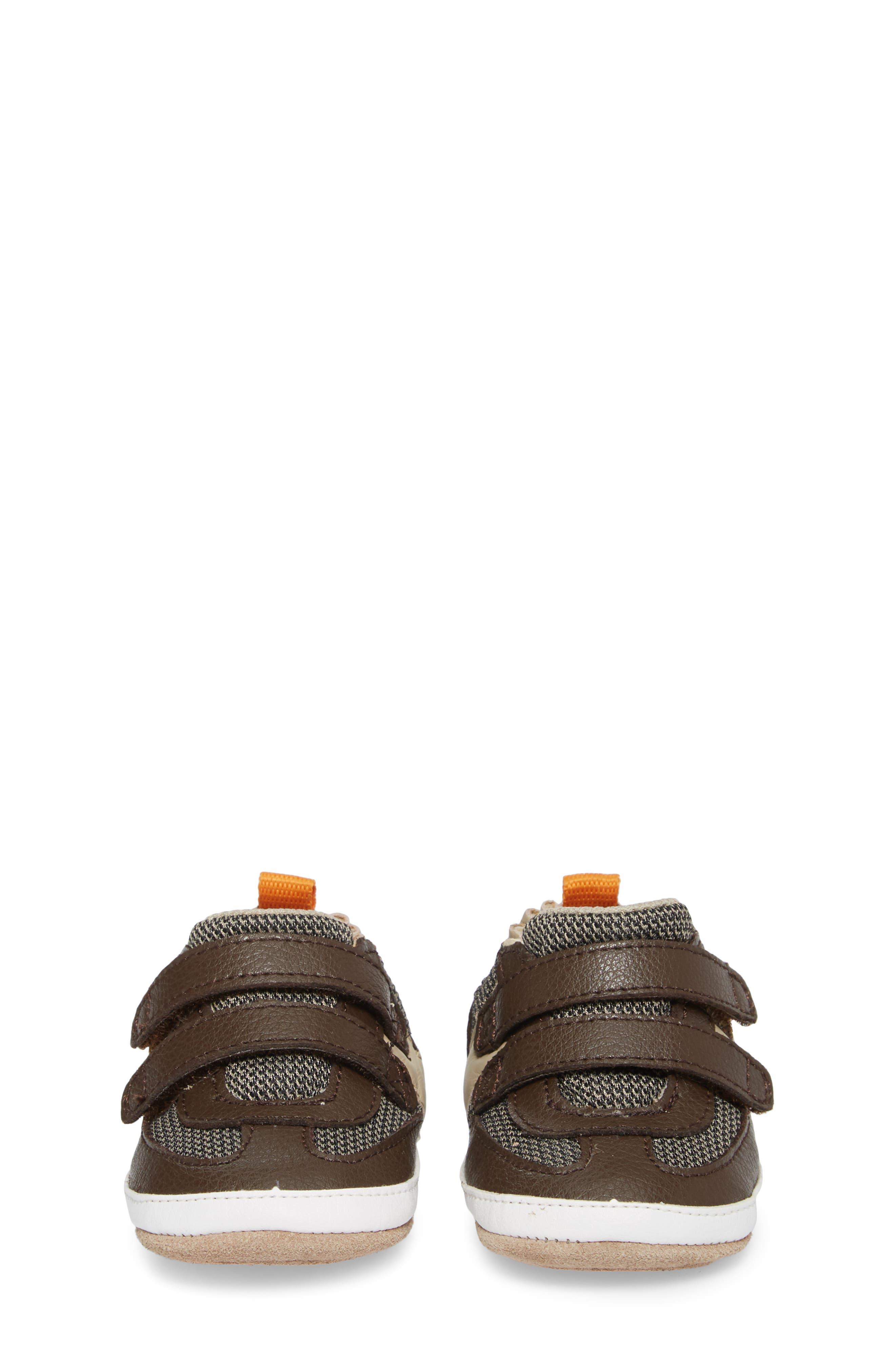 Active Alex Crib Sneaker,                             Alternate thumbnail 4, color,                             ESPRESSO