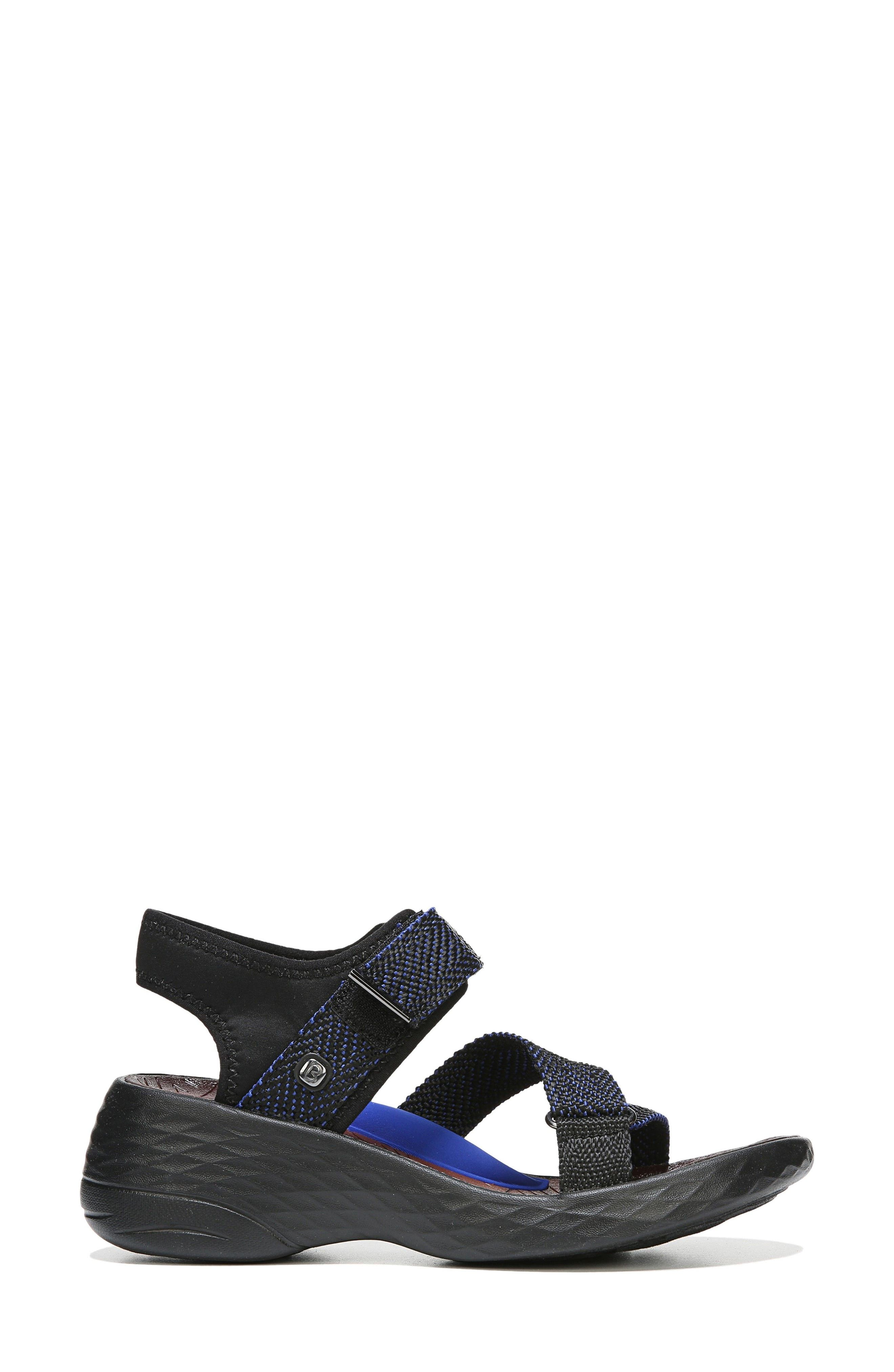 Jive Sandal,                             Alternate thumbnail 3, color,                             BLUE WEBBING FABRIC