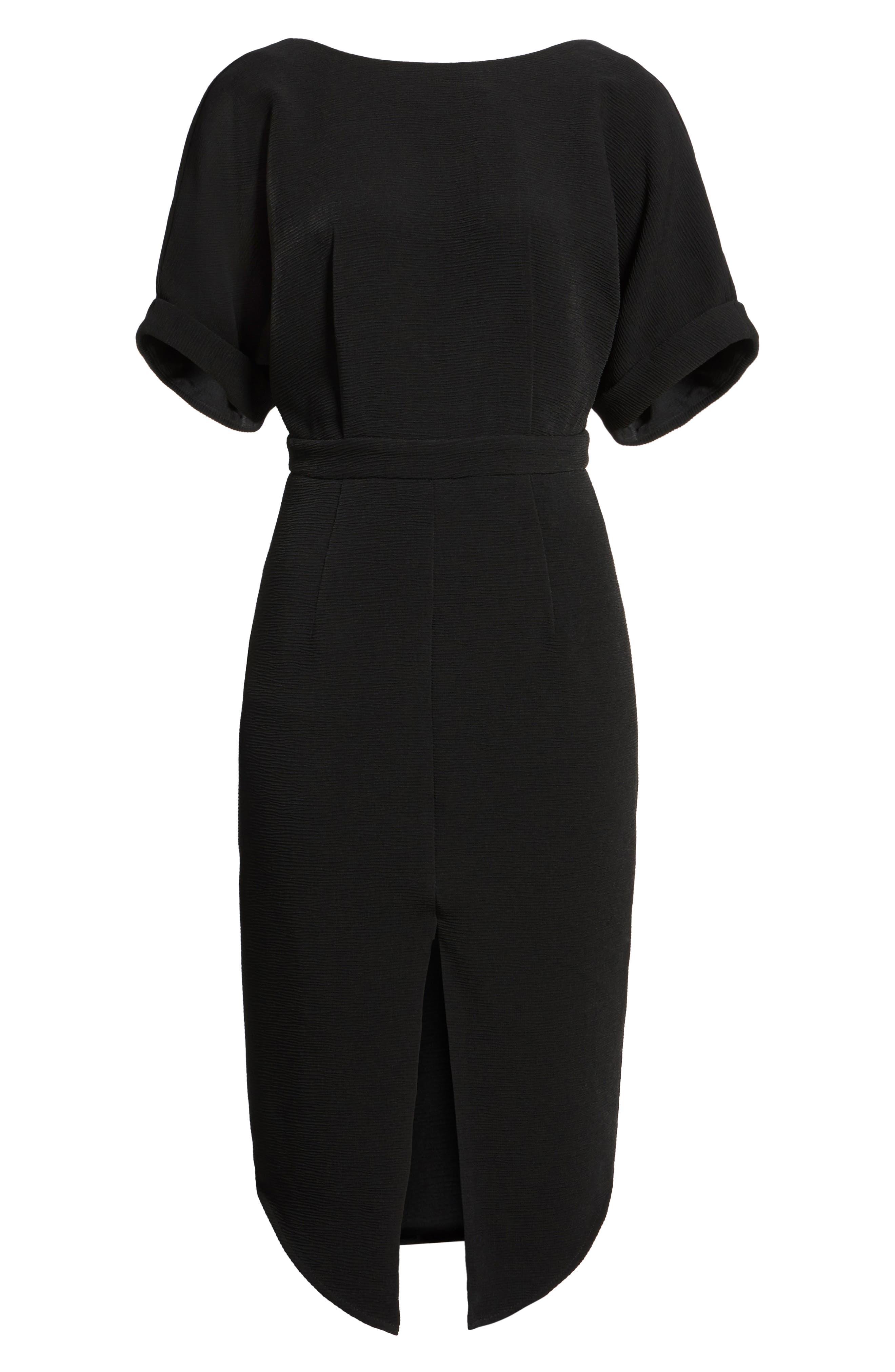 Barre Dress,                             Alternate thumbnail 6, color,                             001