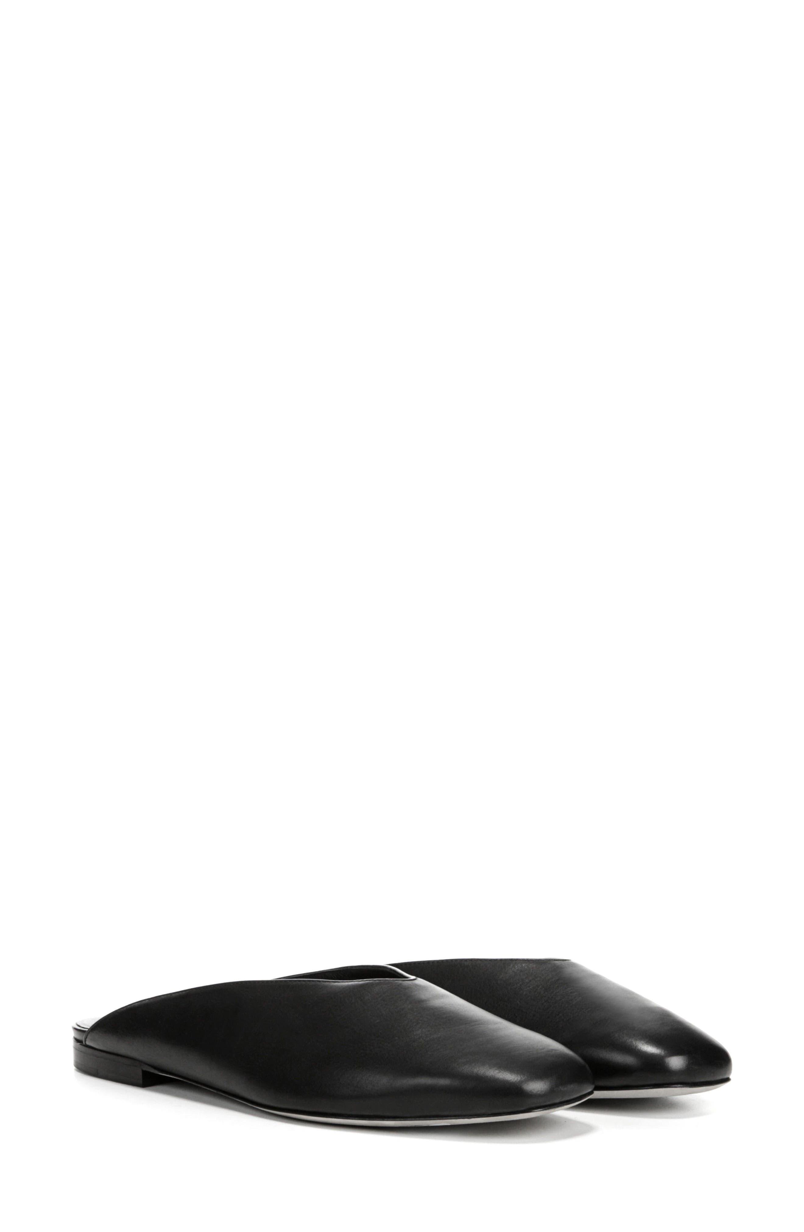 Levins V-Cut Mule,                             Alternate thumbnail 8, color,                             BLACK