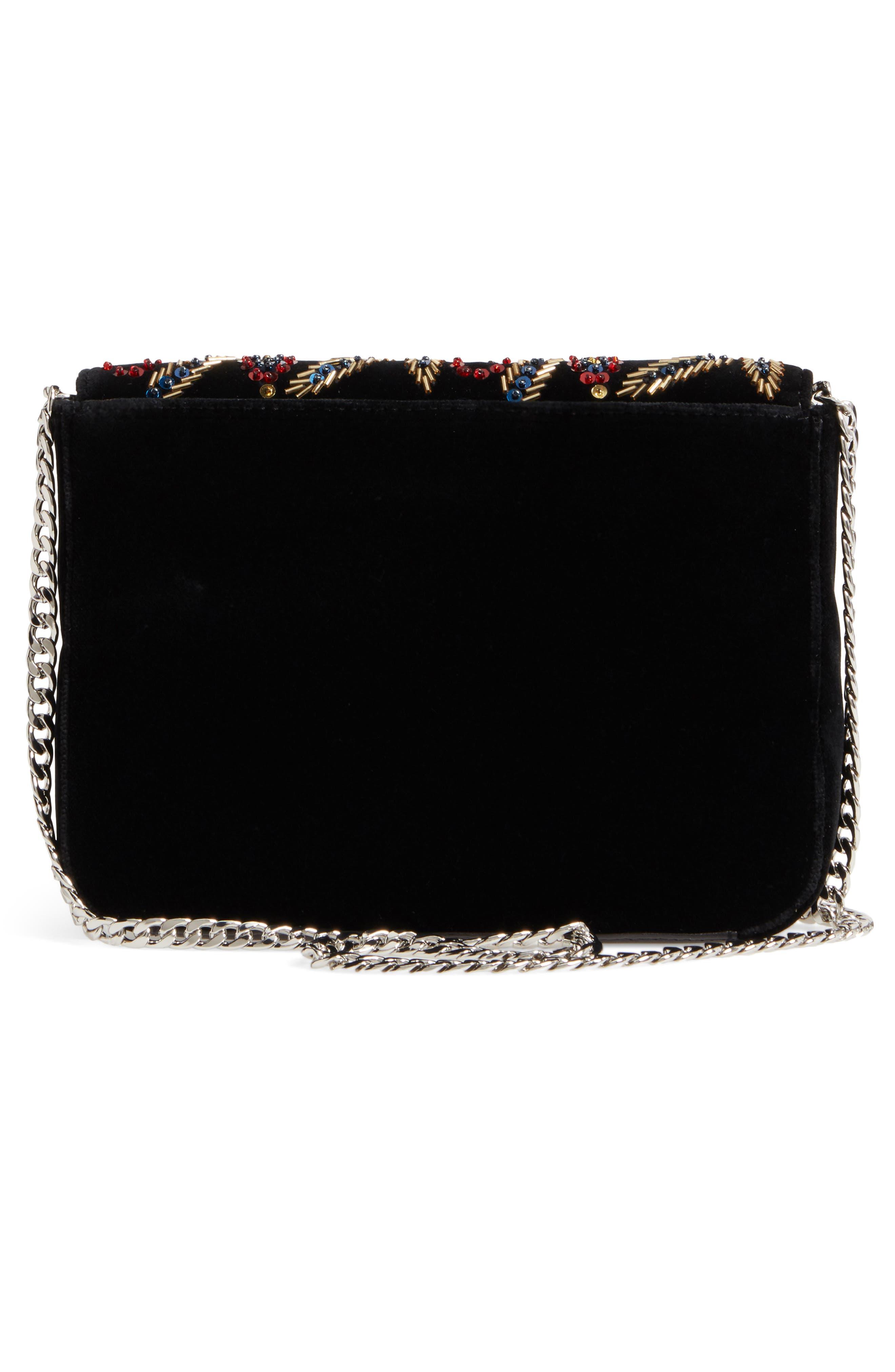 Loeffler Randal Lock Sequin Shoulder Bag,                             Alternate thumbnail 3, color,