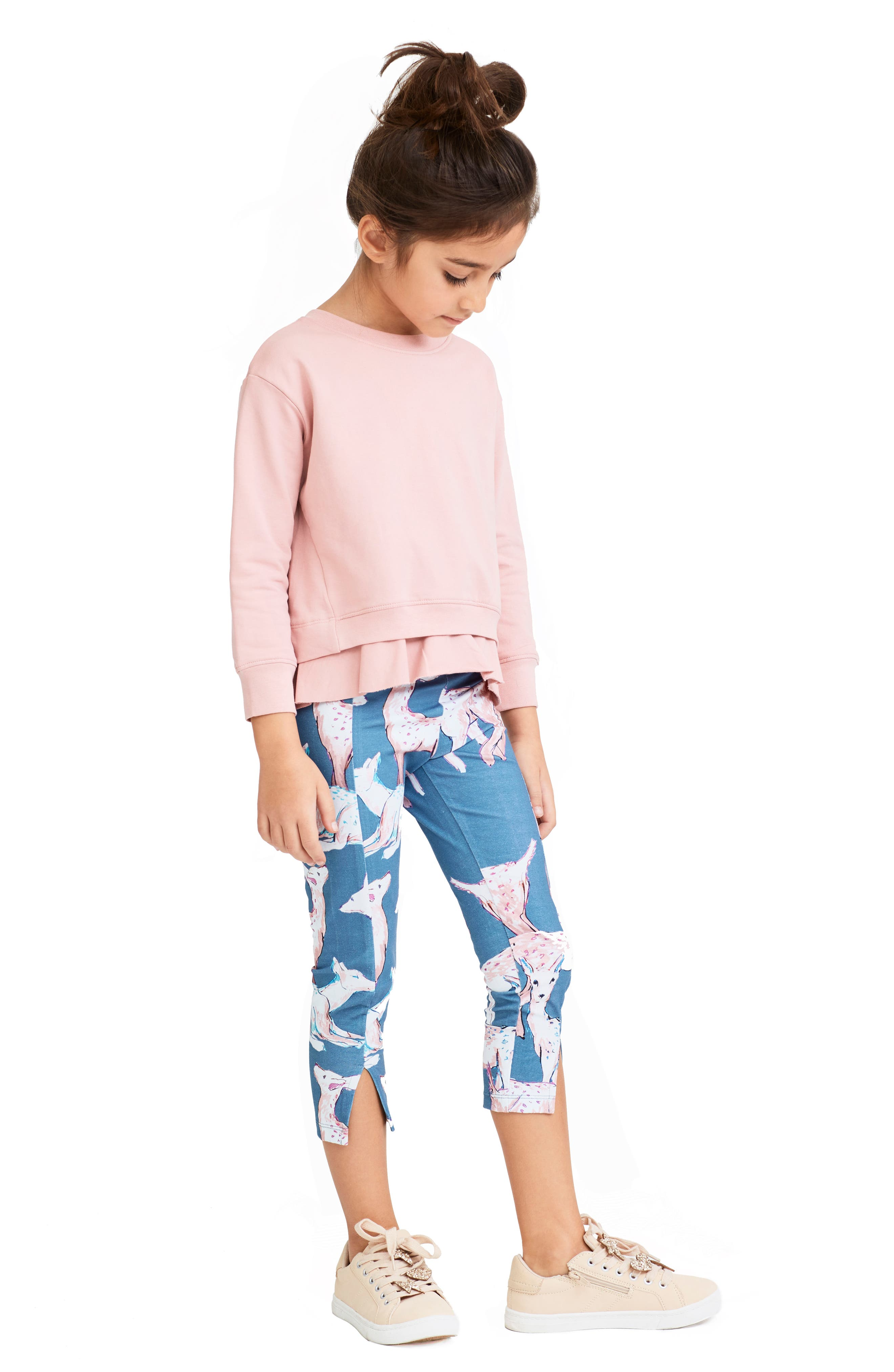 Diane Deer Crop Leggings,                             Alternate thumbnail 2, color,                             453