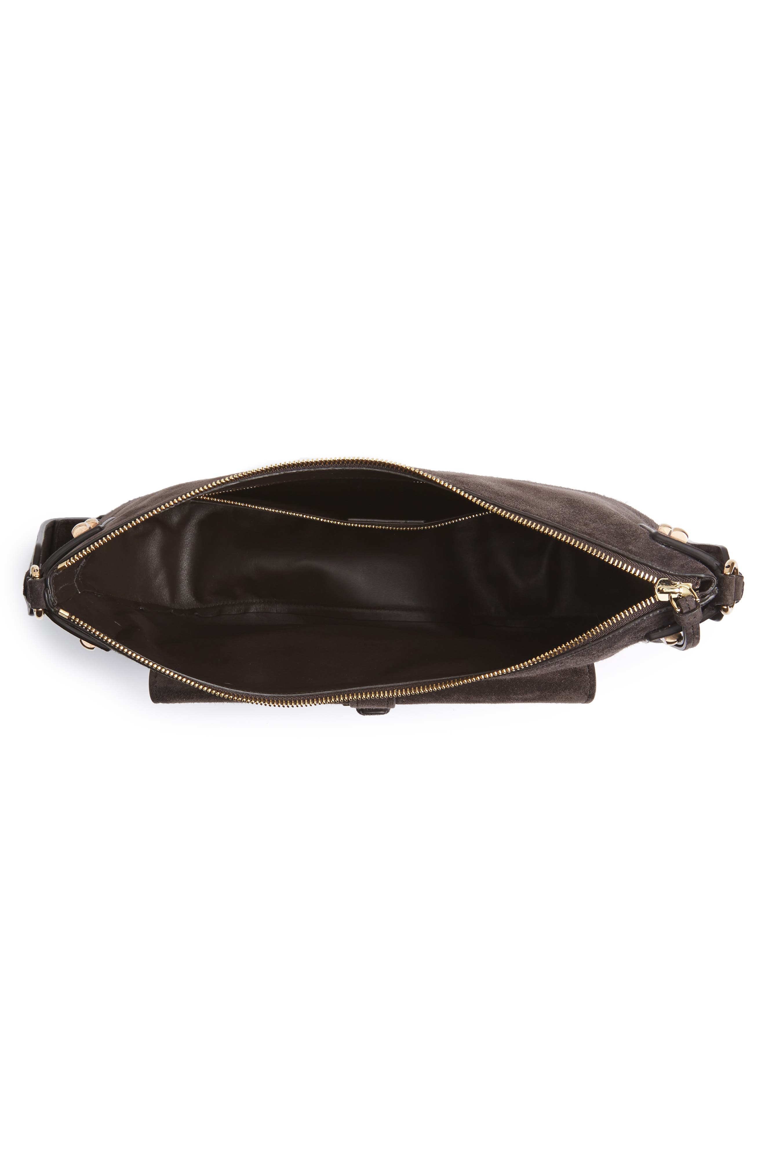 Suede Hobo,                             Alternate thumbnail 4, color,                             033