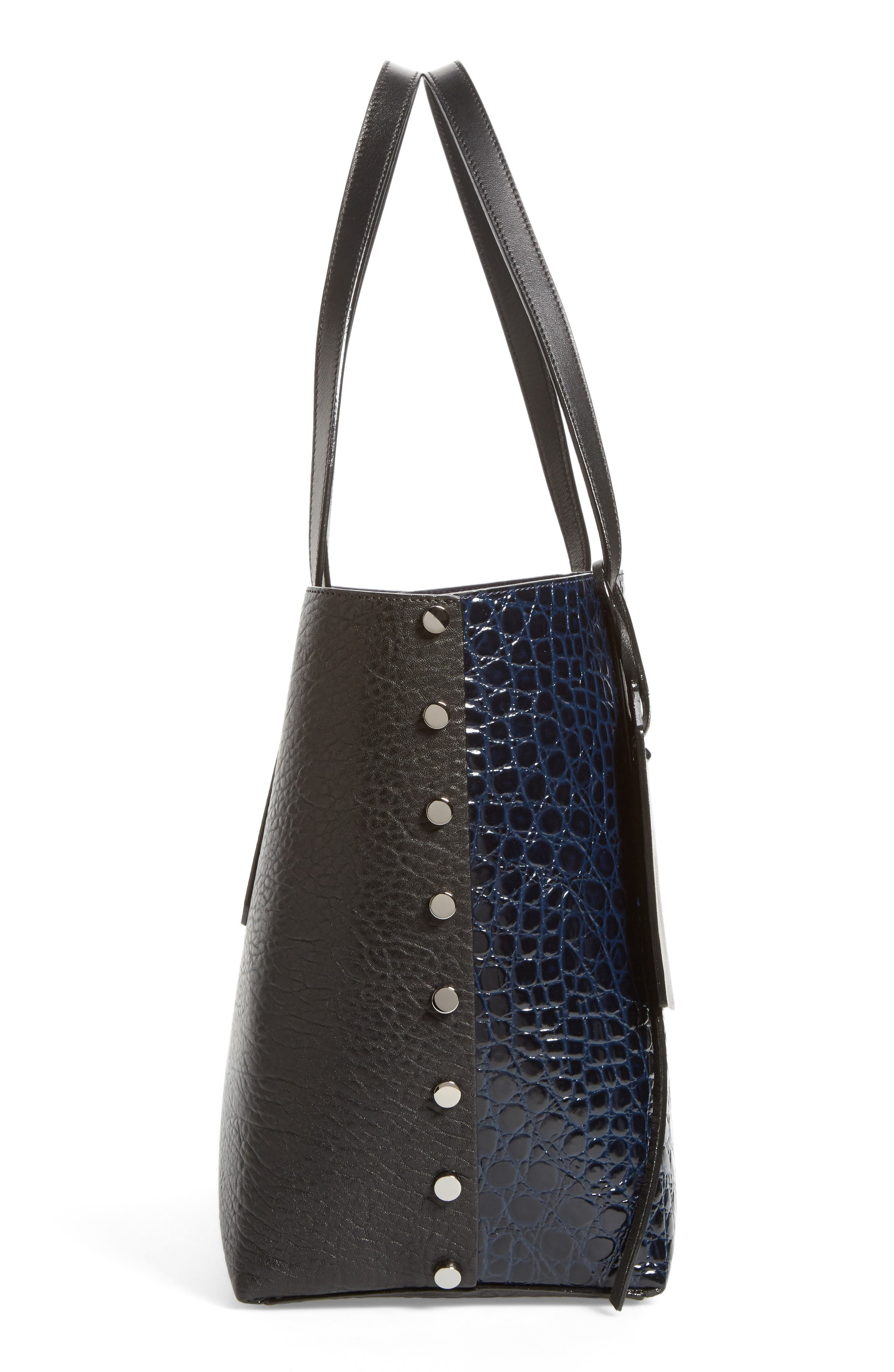 Twist East West Leather Tote,                             Alternate thumbnail 5, color,                             415