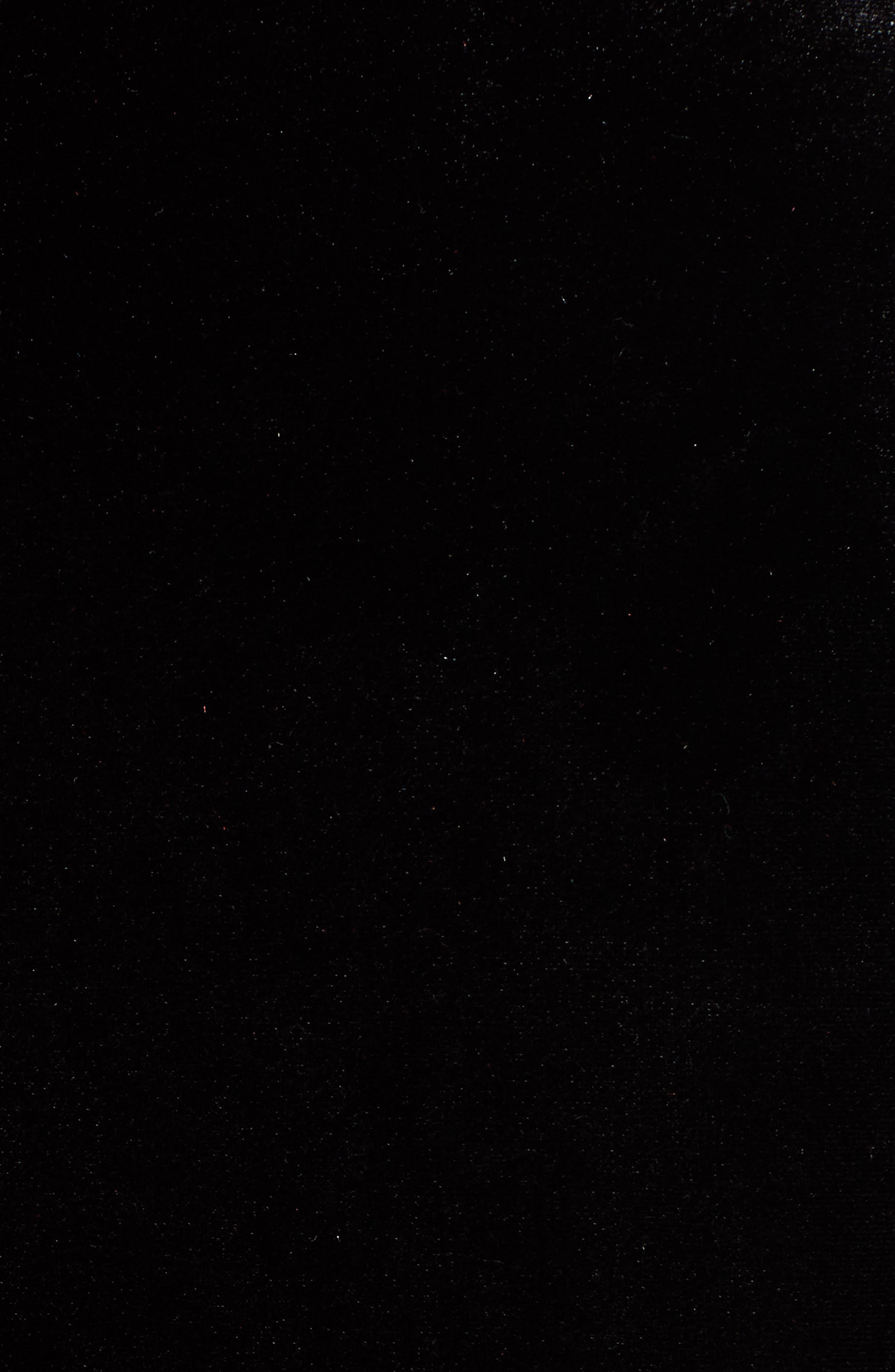 Ruffle Trim Velvet Dress,                             Alternate thumbnail 7, color,                             BLACK