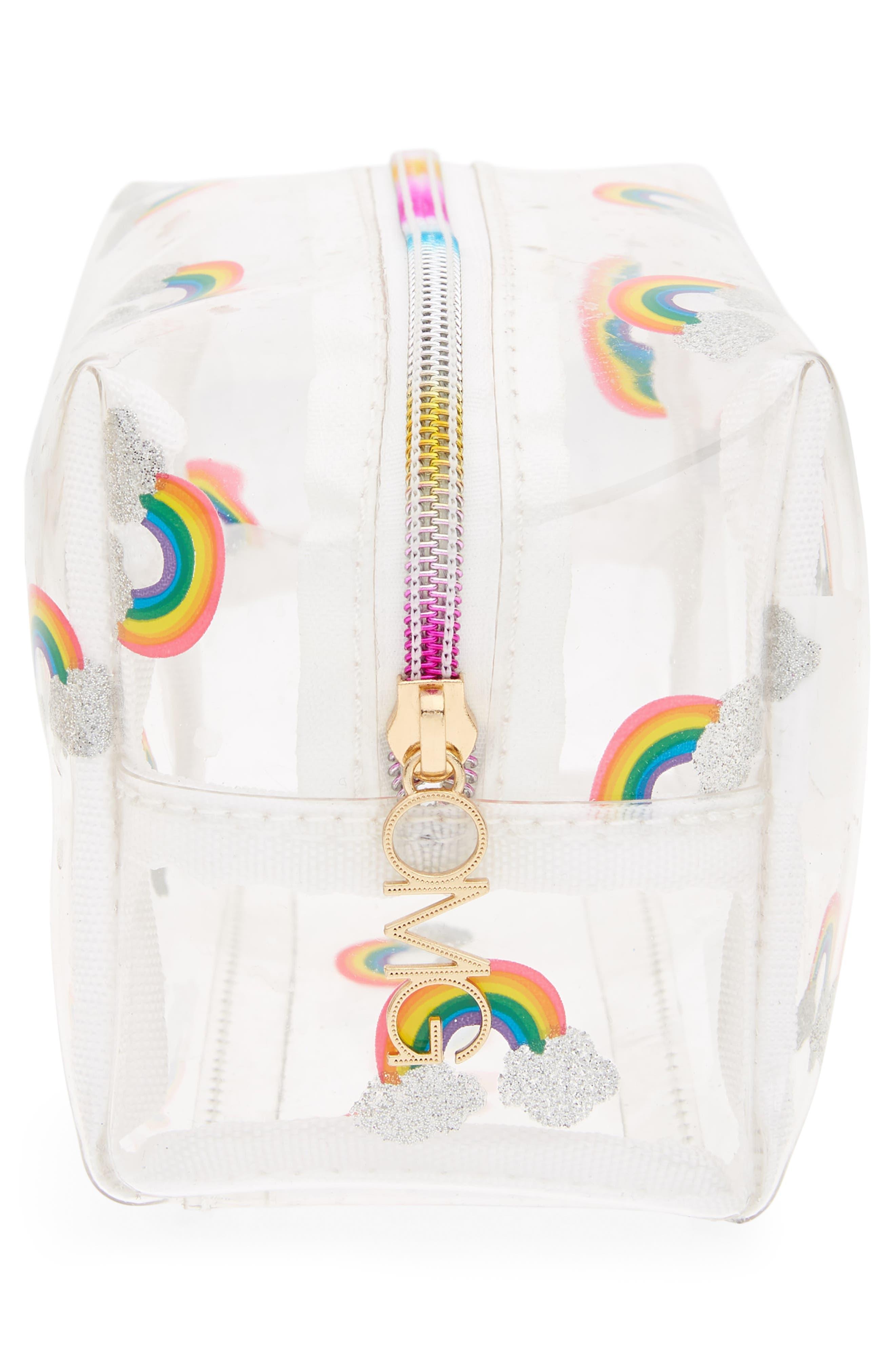 Rainbow Cosmetics Bag,                             Alternate thumbnail 4, color,                             100