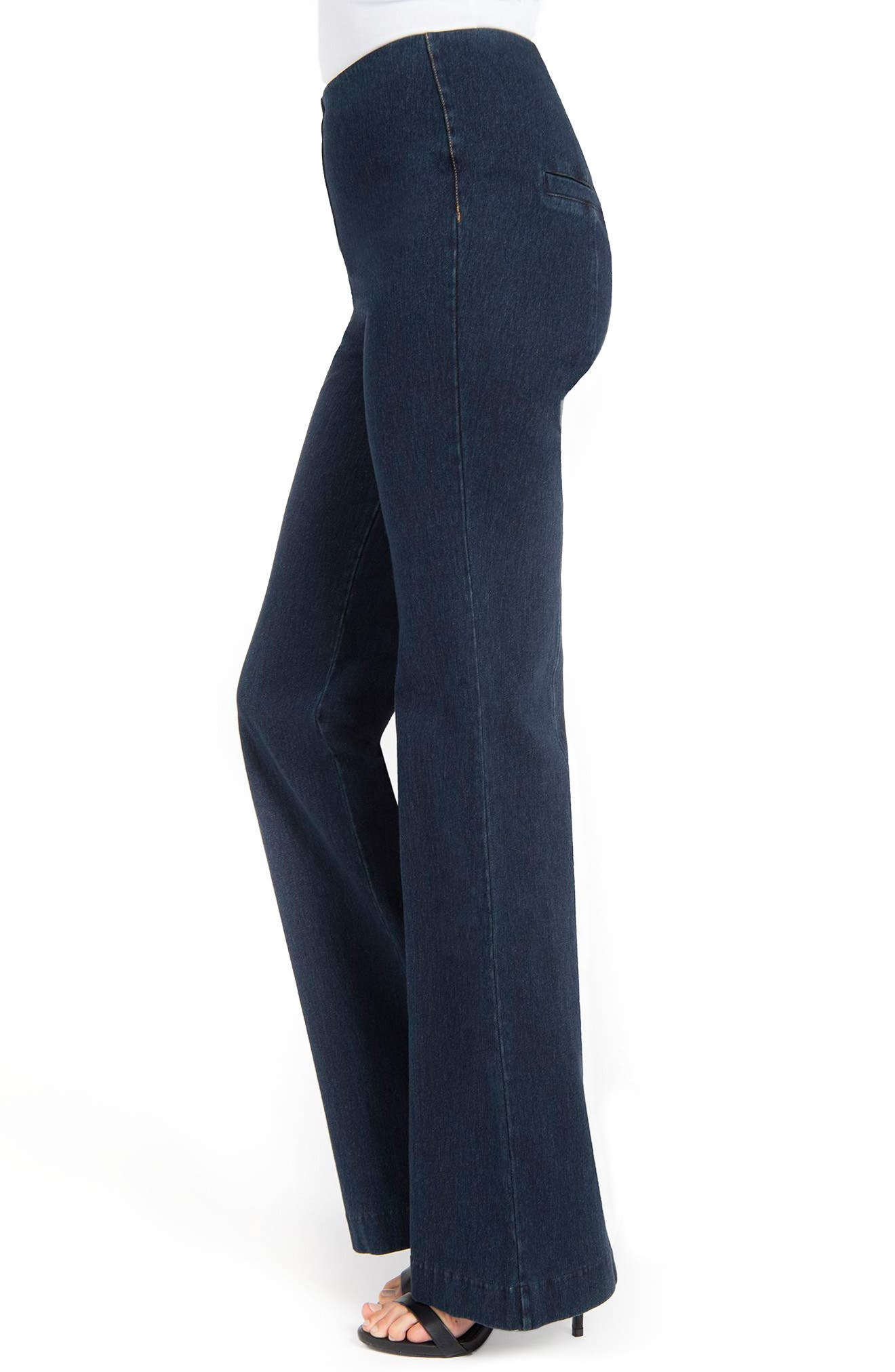Wide Leg Denim Trousers,                             Alternate thumbnail 3, color,                             INDIGO