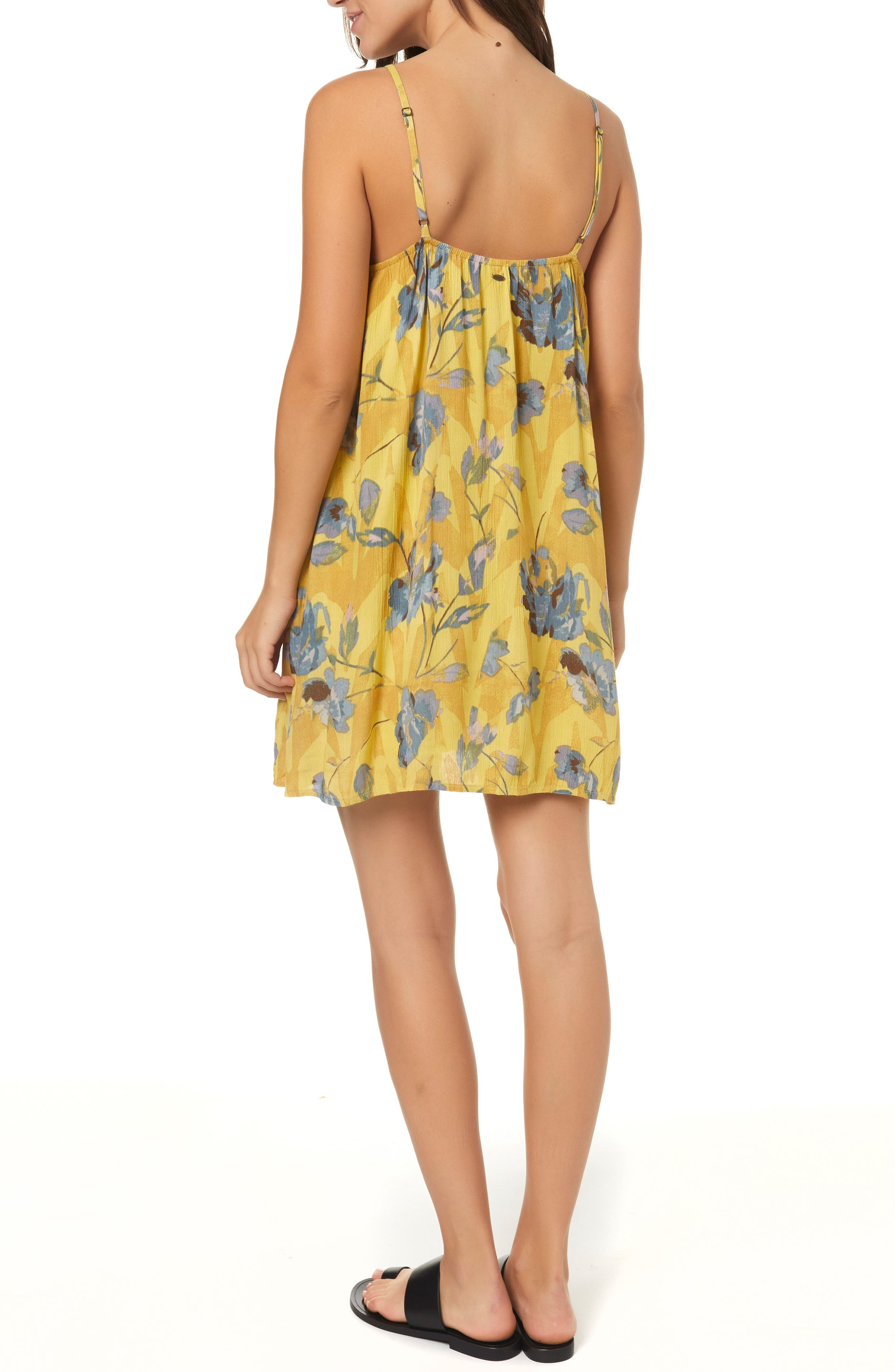 Henna Floral Print Woven Tank Dress,                             Alternate thumbnail 2, color,                             MULTI COLORED