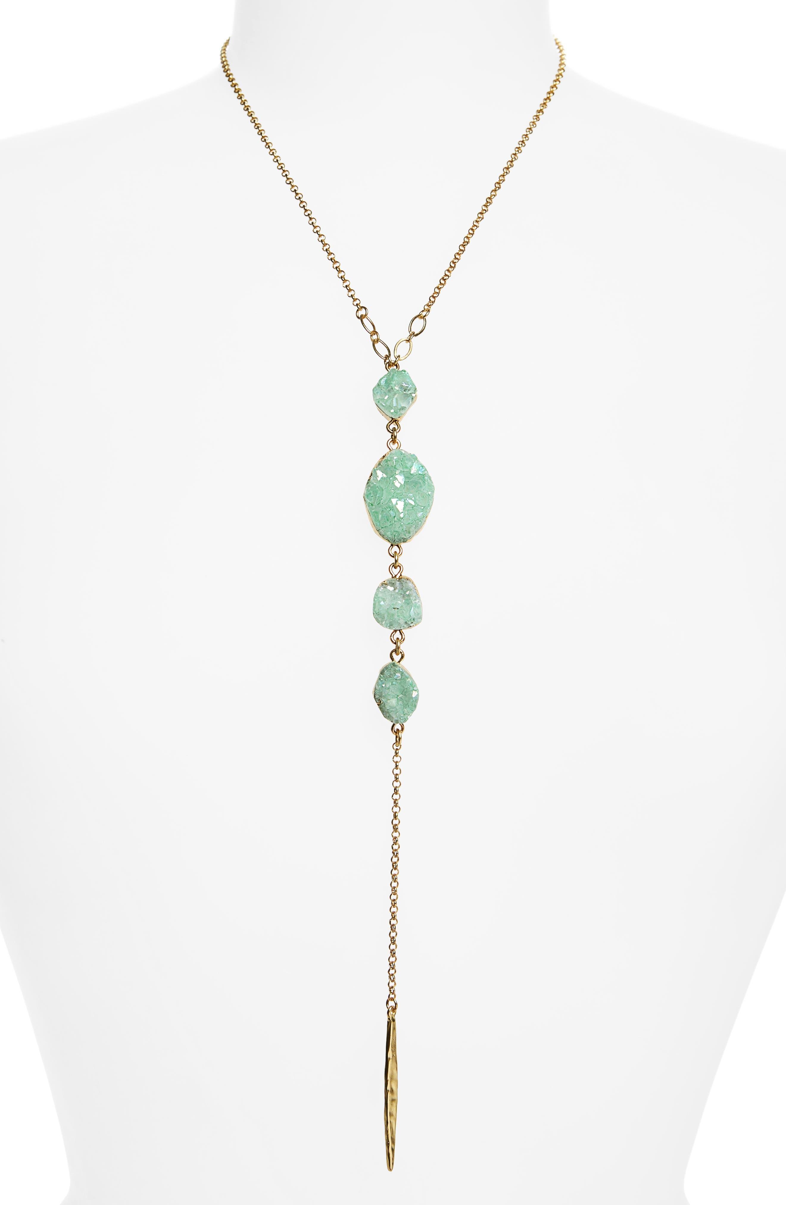 Drusy Chain Y-Necklace,                         Main,                         color, 310