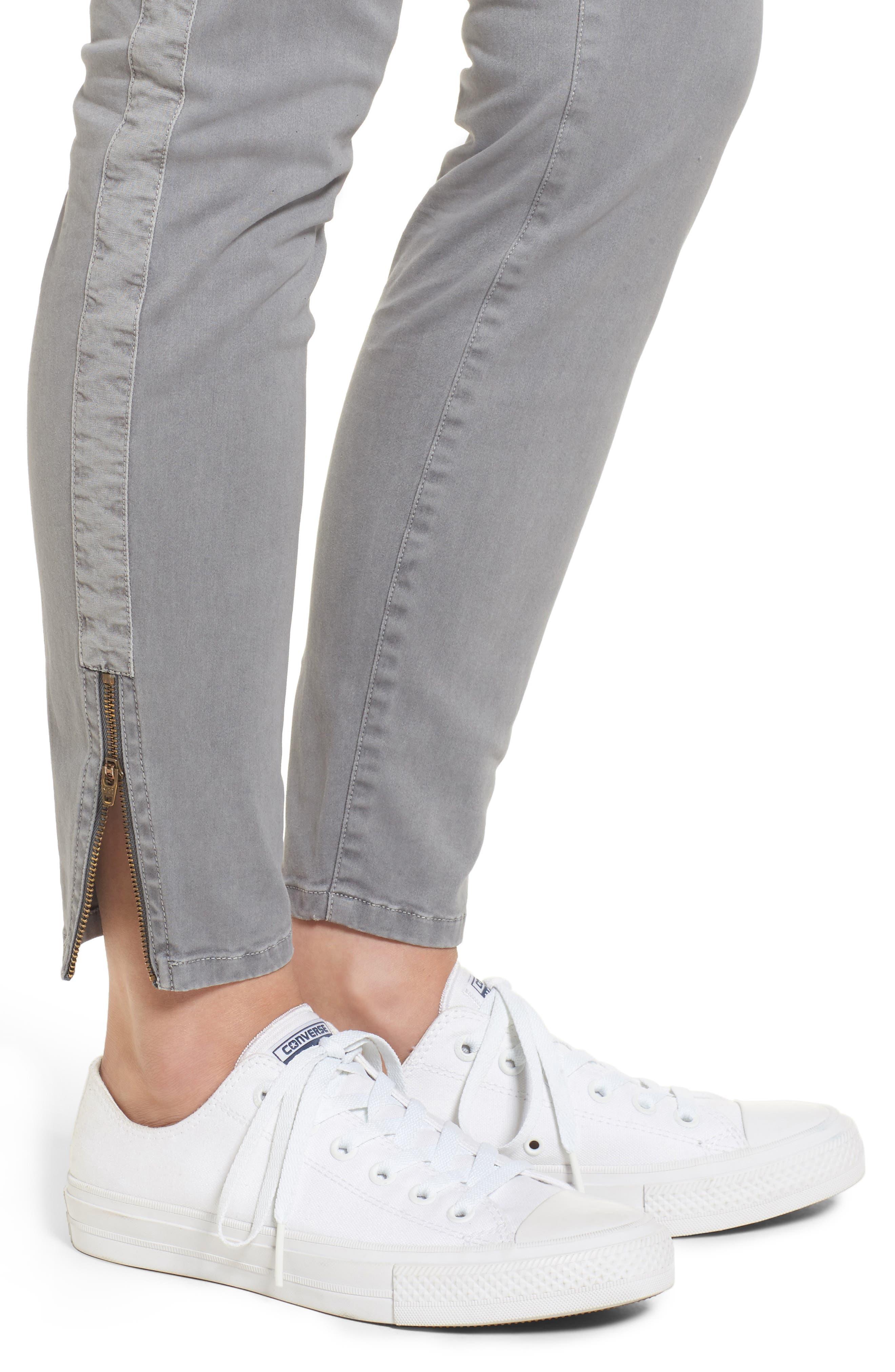 Garment Dyed Utility Skinny Pants,                             Alternate thumbnail 4, color,                             057