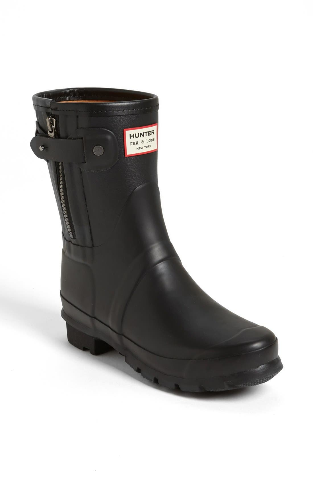 for rag & bone Short Rain Boot, Main, color, 001