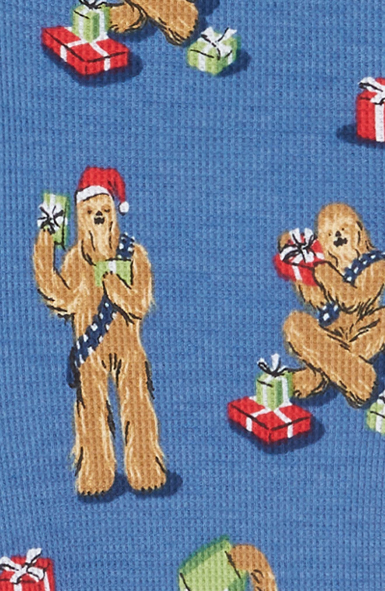 x Star Wars<sup>™</sup> Christmas Chewbacca Fitted One-Piece Pajamas,                             Alternate thumbnail 2, color,                             409