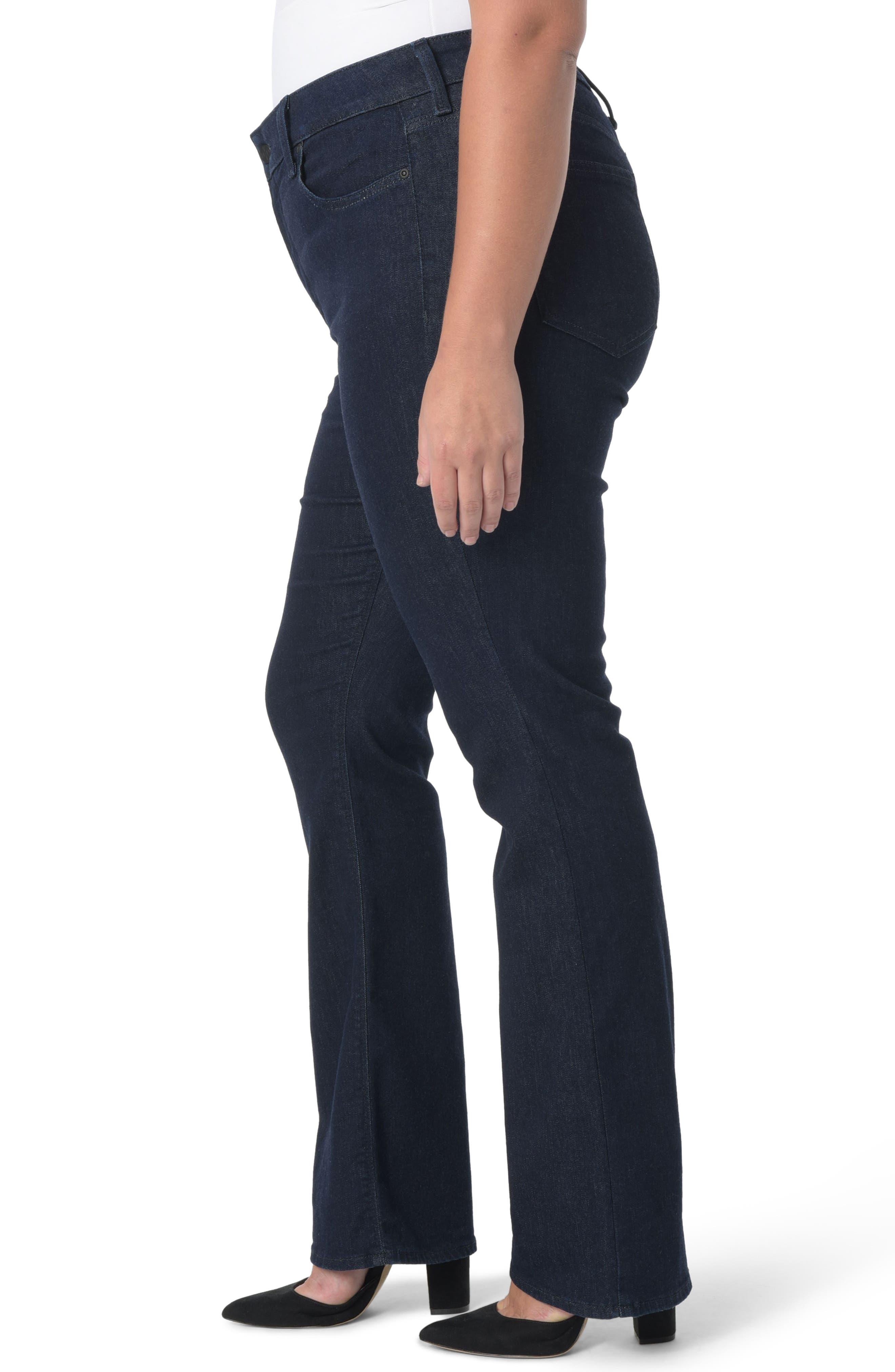 Barbara Stretch Bootcut Jeans,                             Alternate thumbnail 3, color,                             RINSE TONAL STITCH