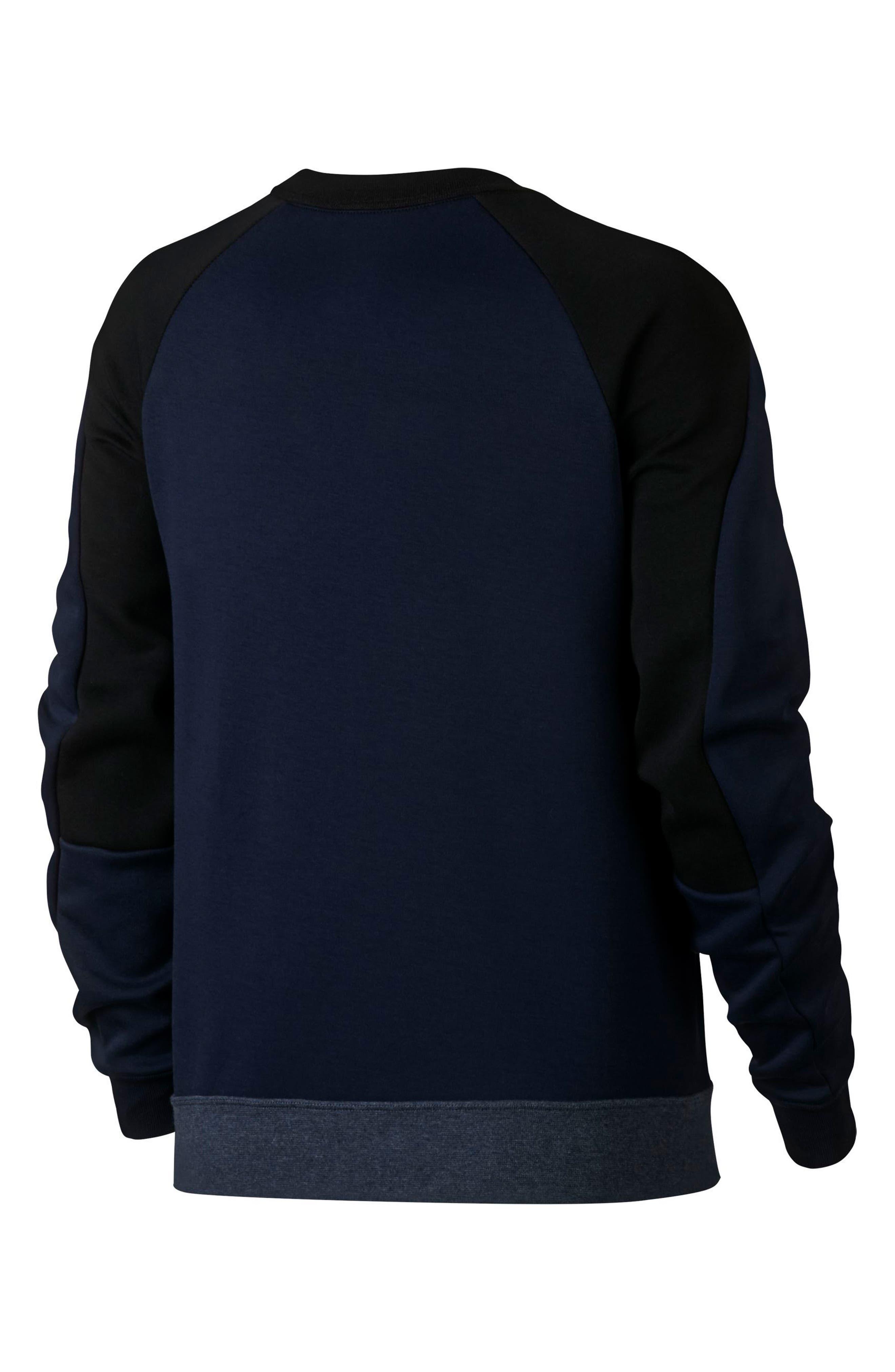 Sportswear Women's Tech Fleece Crew,                             Alternate thumbnail 6, color,                             OBSIDIAN/ BLACK/ BLACK