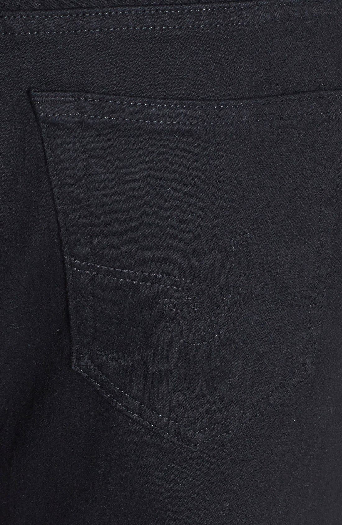Graduate Slim Straight Leg Jeans,                             Alternate thumbnail 6, color,                             BLACKBIRD