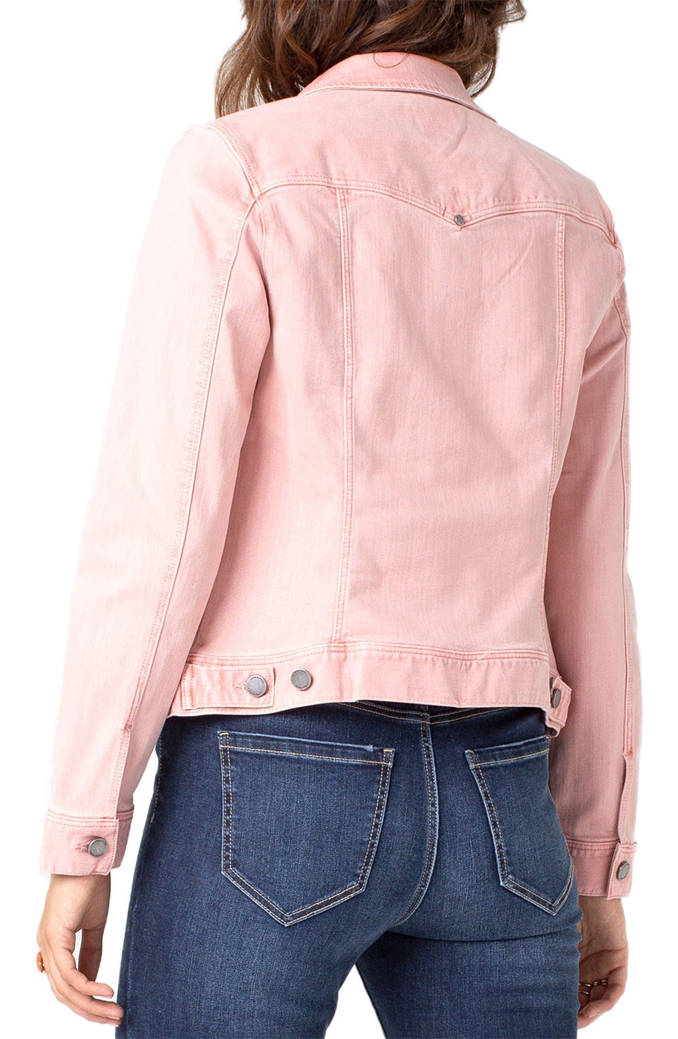 LIVERPOOL,                             Denim Jacket,                             Alternate thumbnail 2, color,                             MISTY ROSE