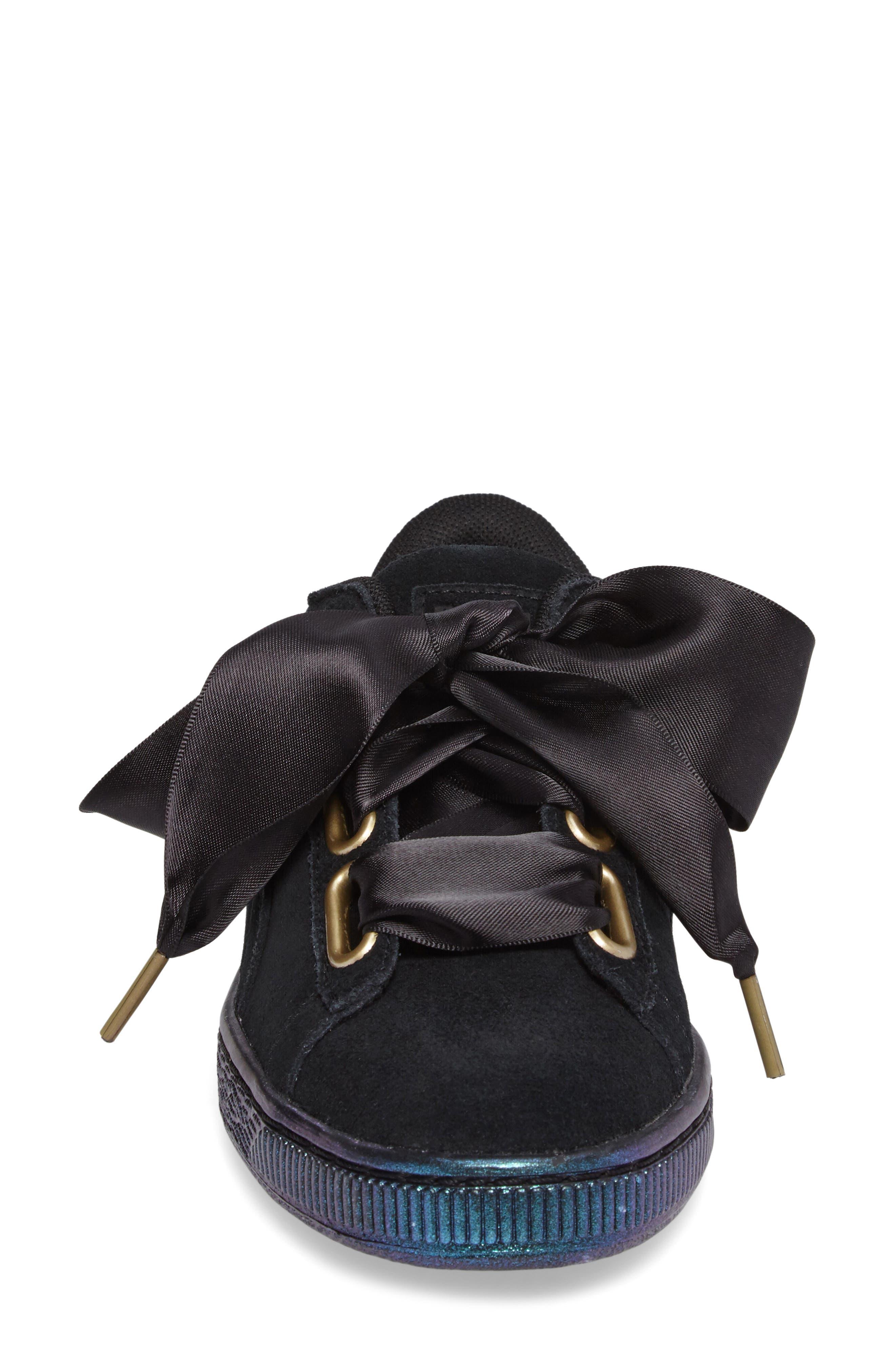 Suede - Heart Sneaker,                             Alternate thumbnail 28, color,