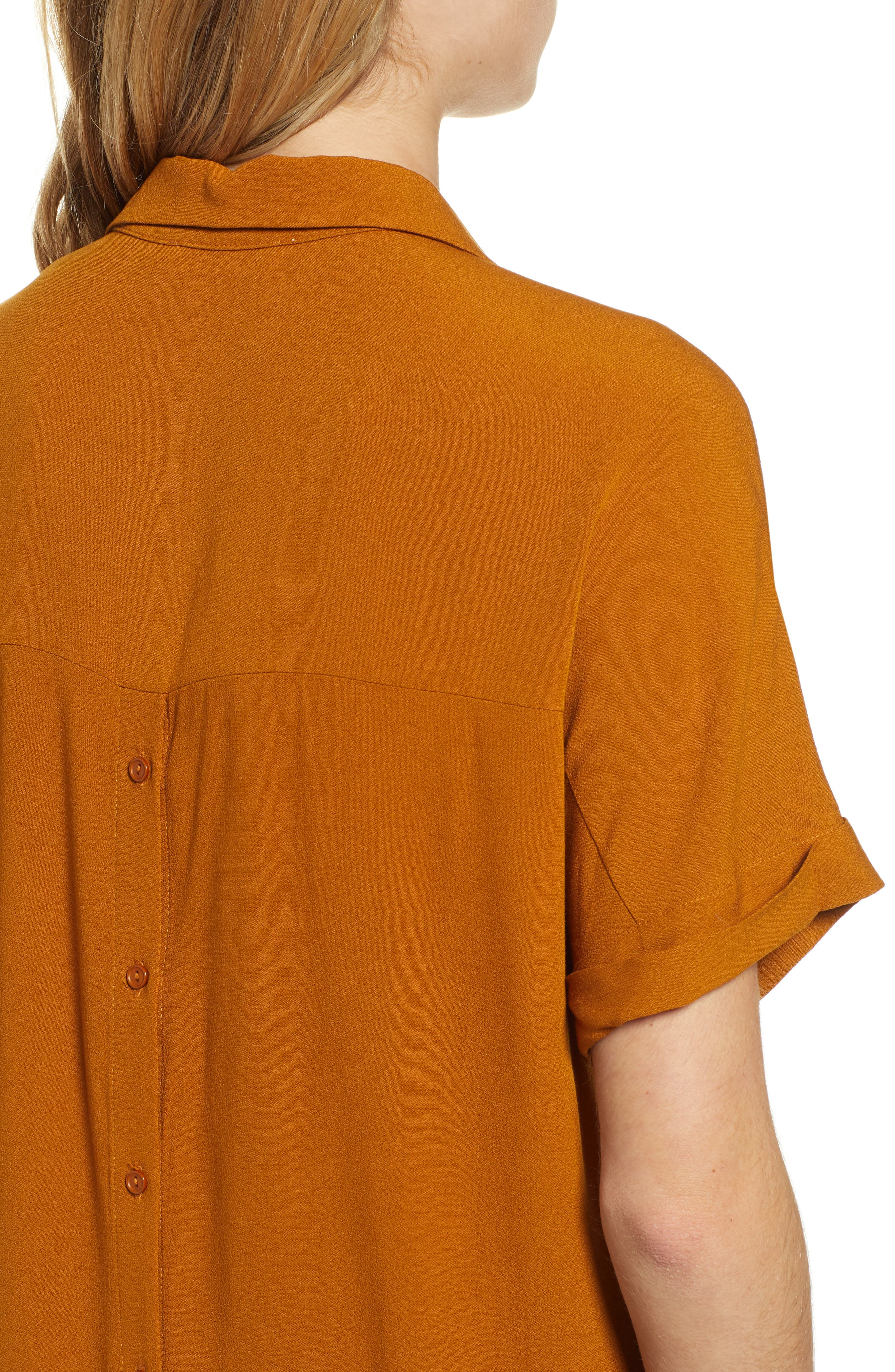 Button Back Top,                             Alternate thumbnail 4, color,                             CATHAY SPICE