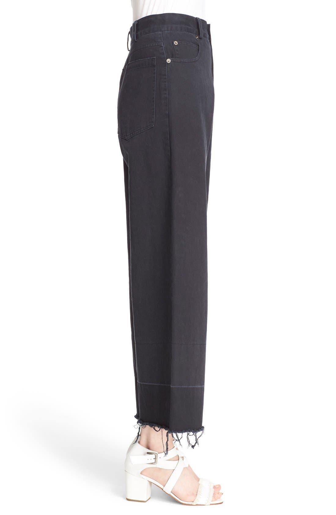 Legion Wide Leg Denim Pants,                             Alternate thumbnail 11, color,