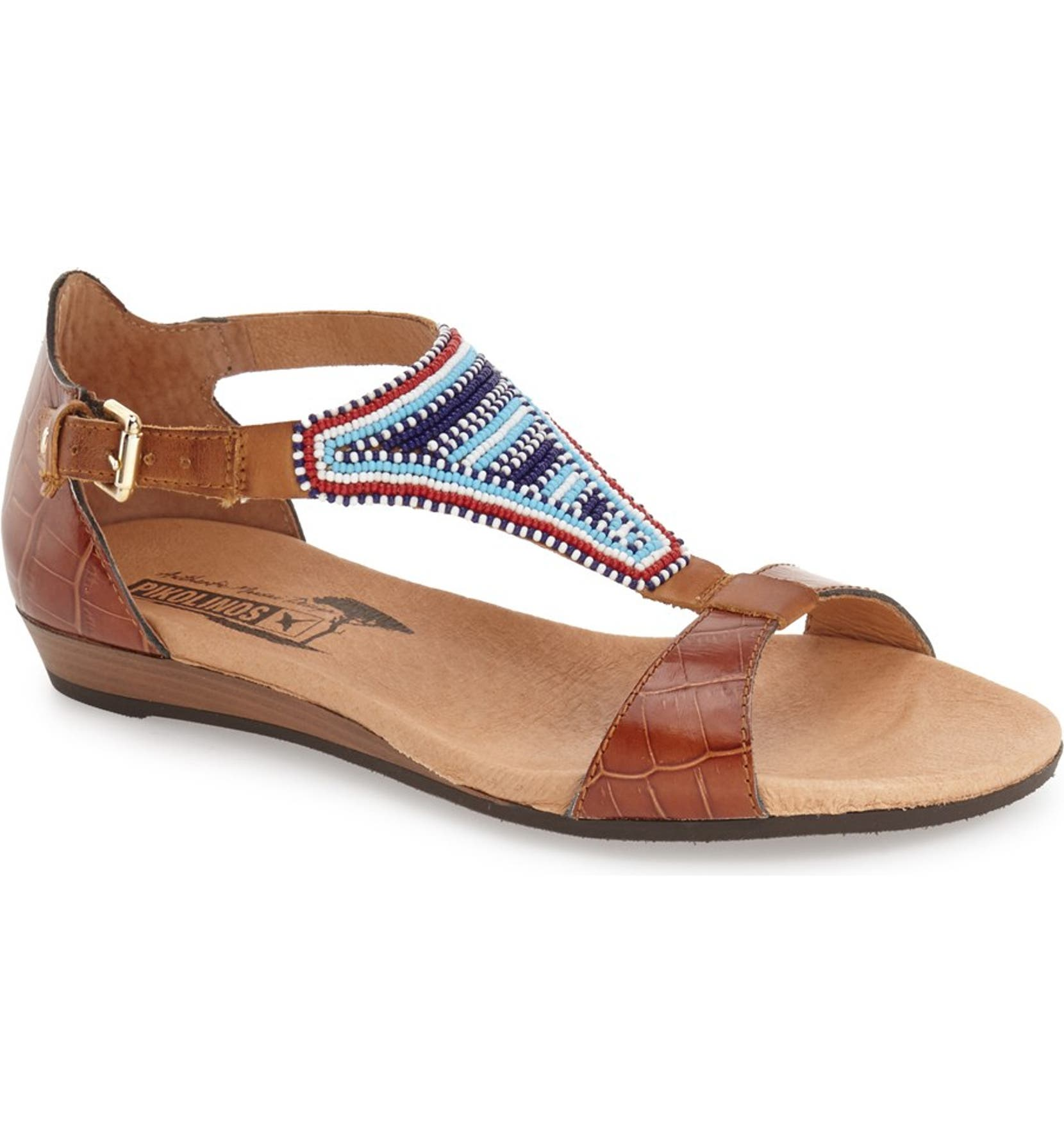 baf83e68d0c PIKOLINOS  Alcudia  T-Strap Beaded Sandal (Women)