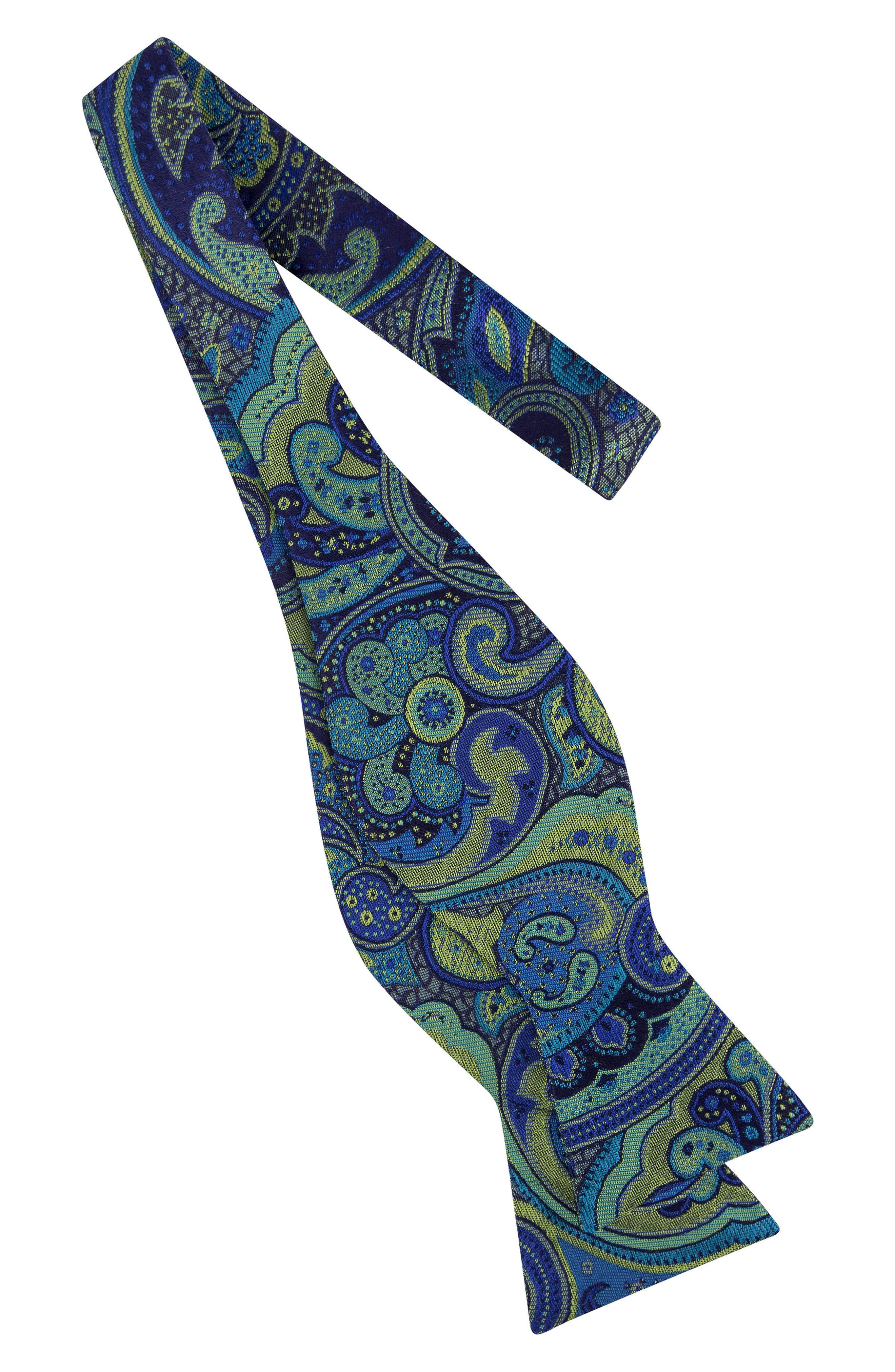 Paisley Silk Bow Tie,                             Alternate thumbnail 6, color,