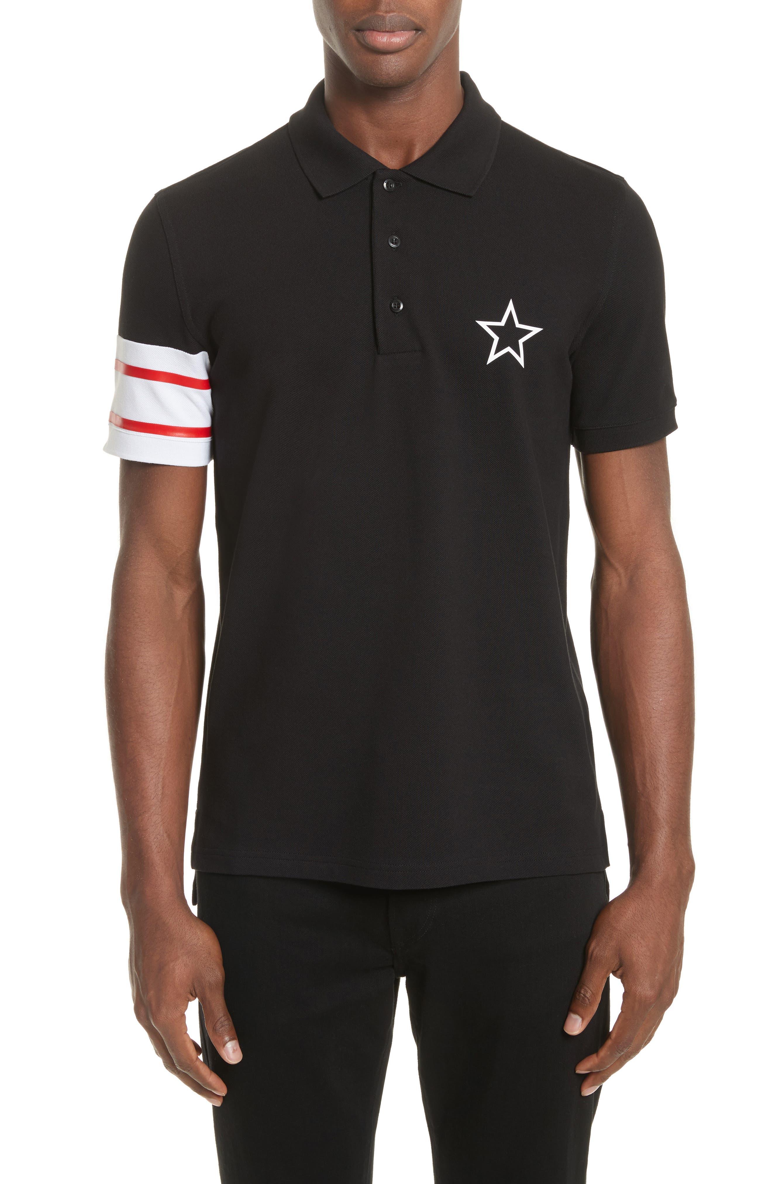 Cuban Fit Stripe Sleeve Polo,                         Main,                         color, 001