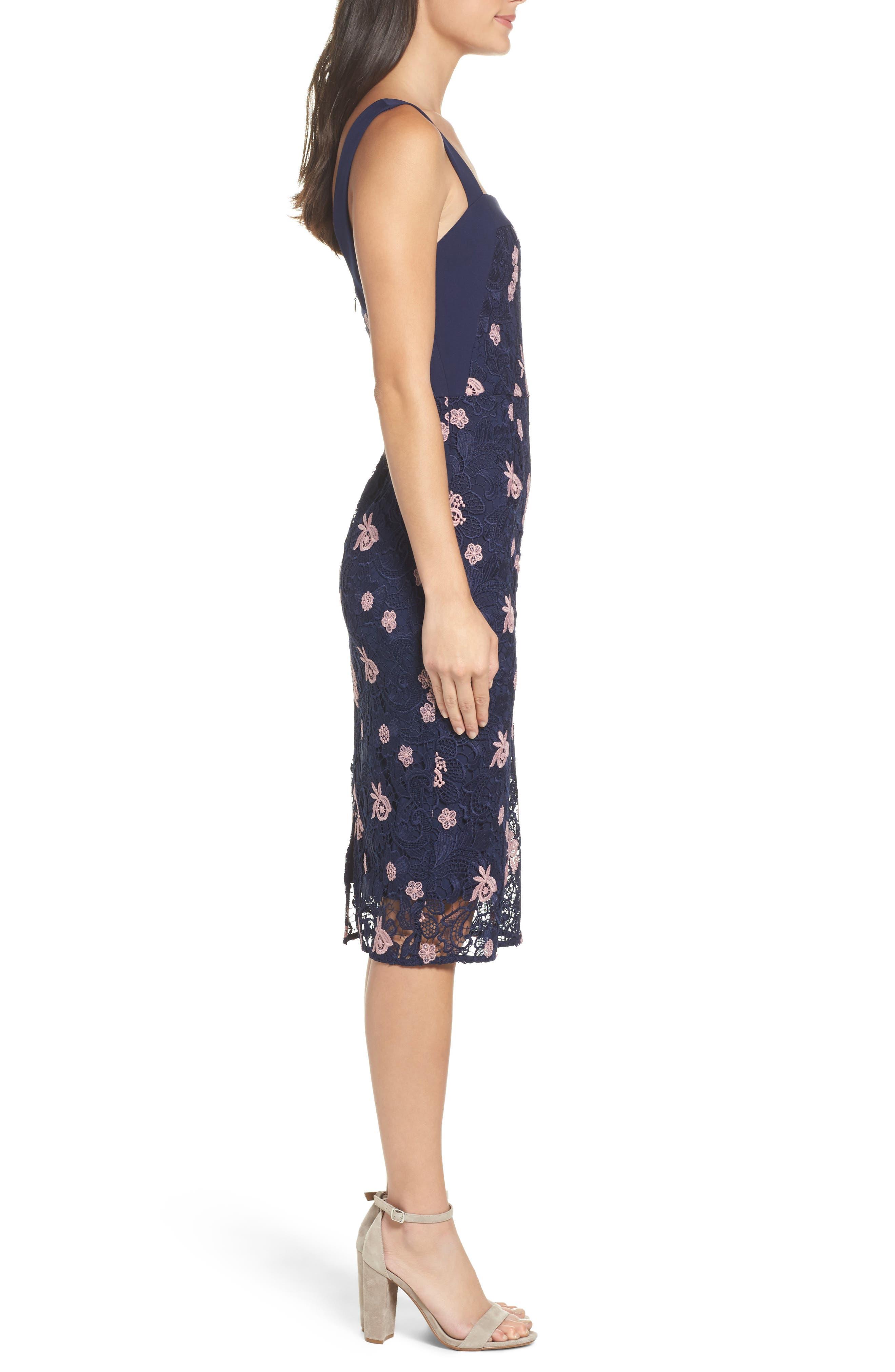 Botanic Bloom Sheath Dress,                             Alternate thumbnail 3, color,