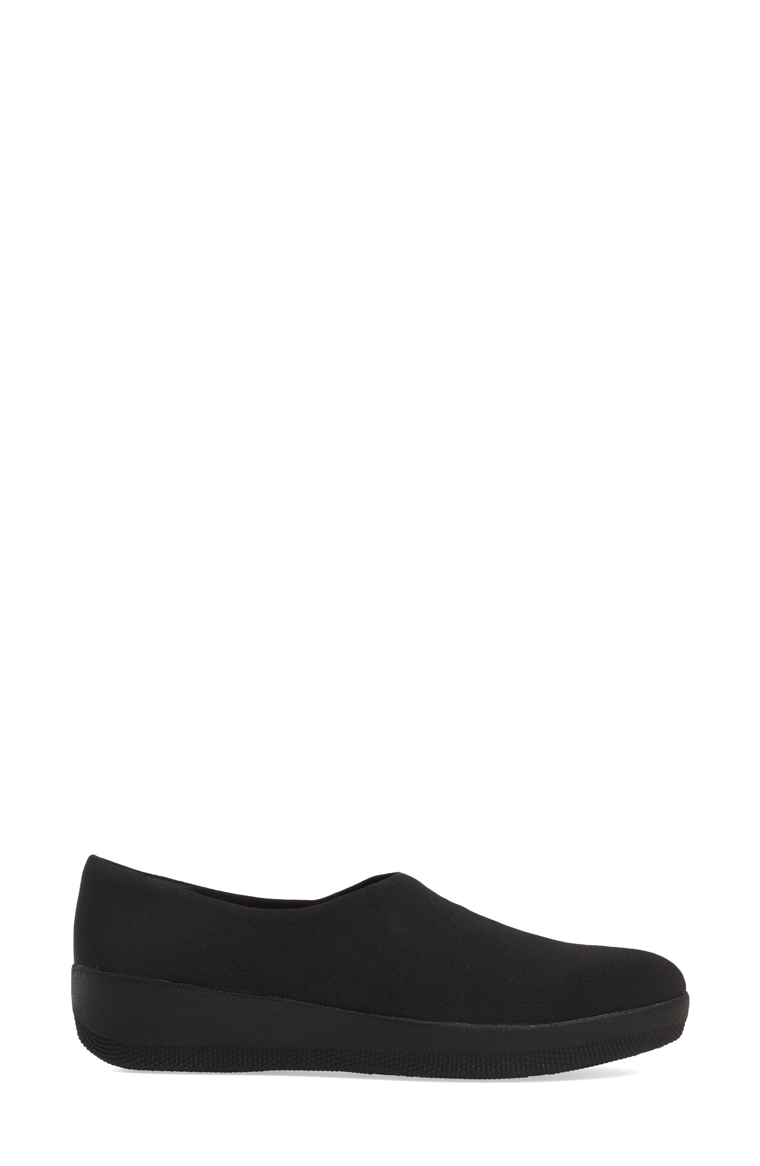 Superstretch Bobby Loafer,                             Alternate thumbnail 3, color,                             ALL BLACK FAUX LEATHER