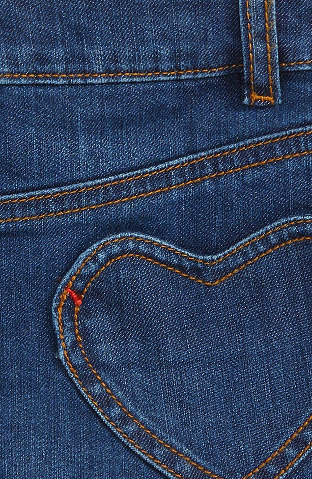 Heart Pocket Denim Skirt,                             Alternate thumbnail 3, color,                             469