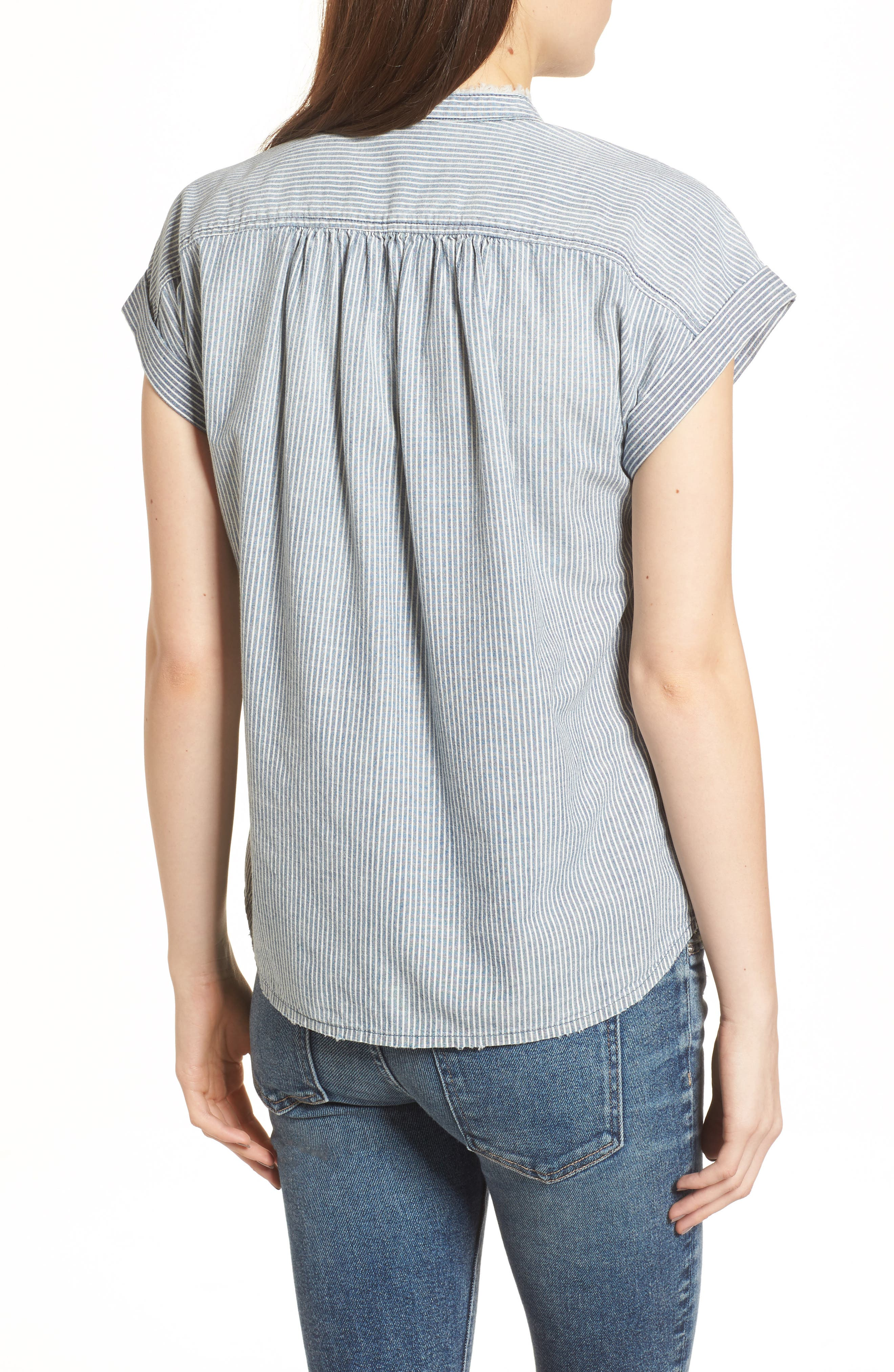 The Liza Engineer Stripe Shirt,                             Alternate thumbnail 2, color,                             LOFT