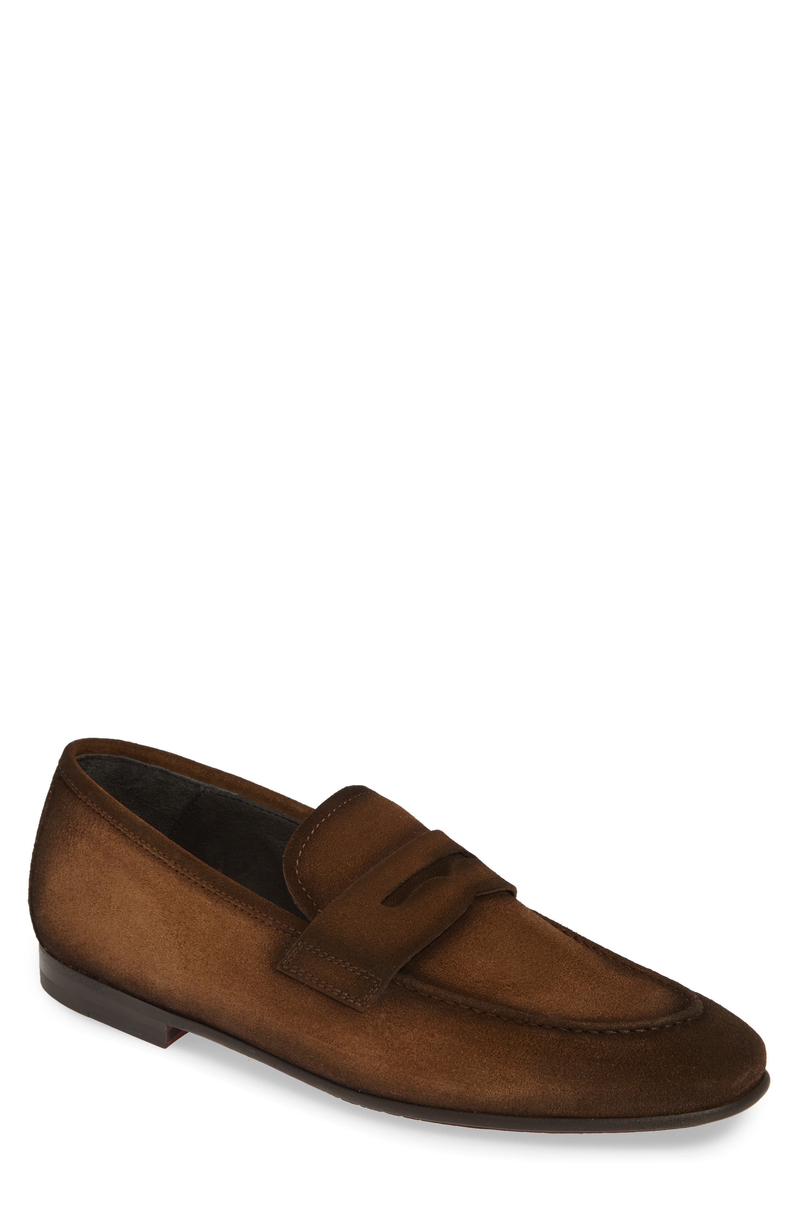 To Boot New York Enzo Apron Toe Penny Loafer, Brown