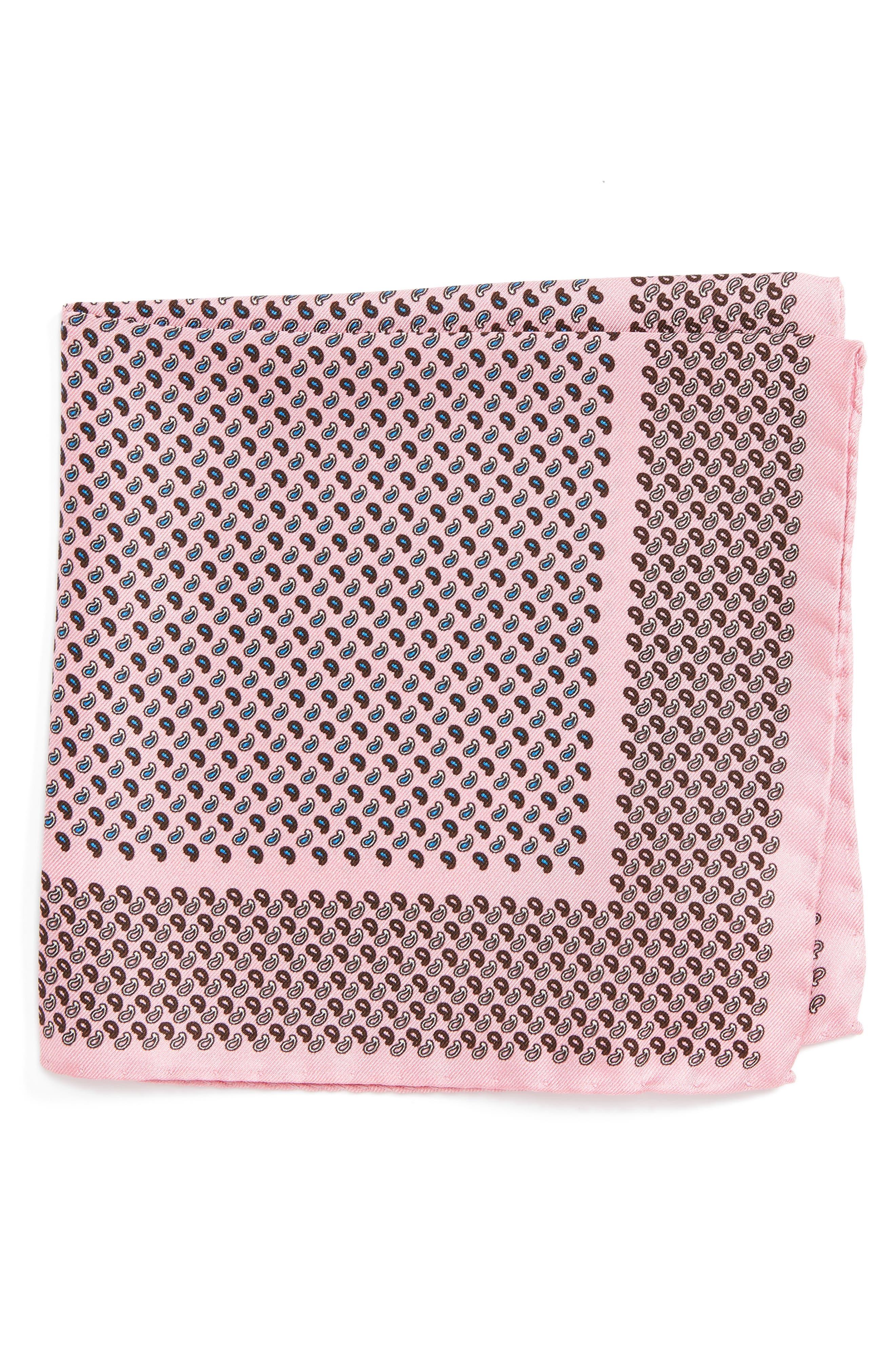 Paisley Silk Pocket Square,                             Main thumbnail 3, color,
