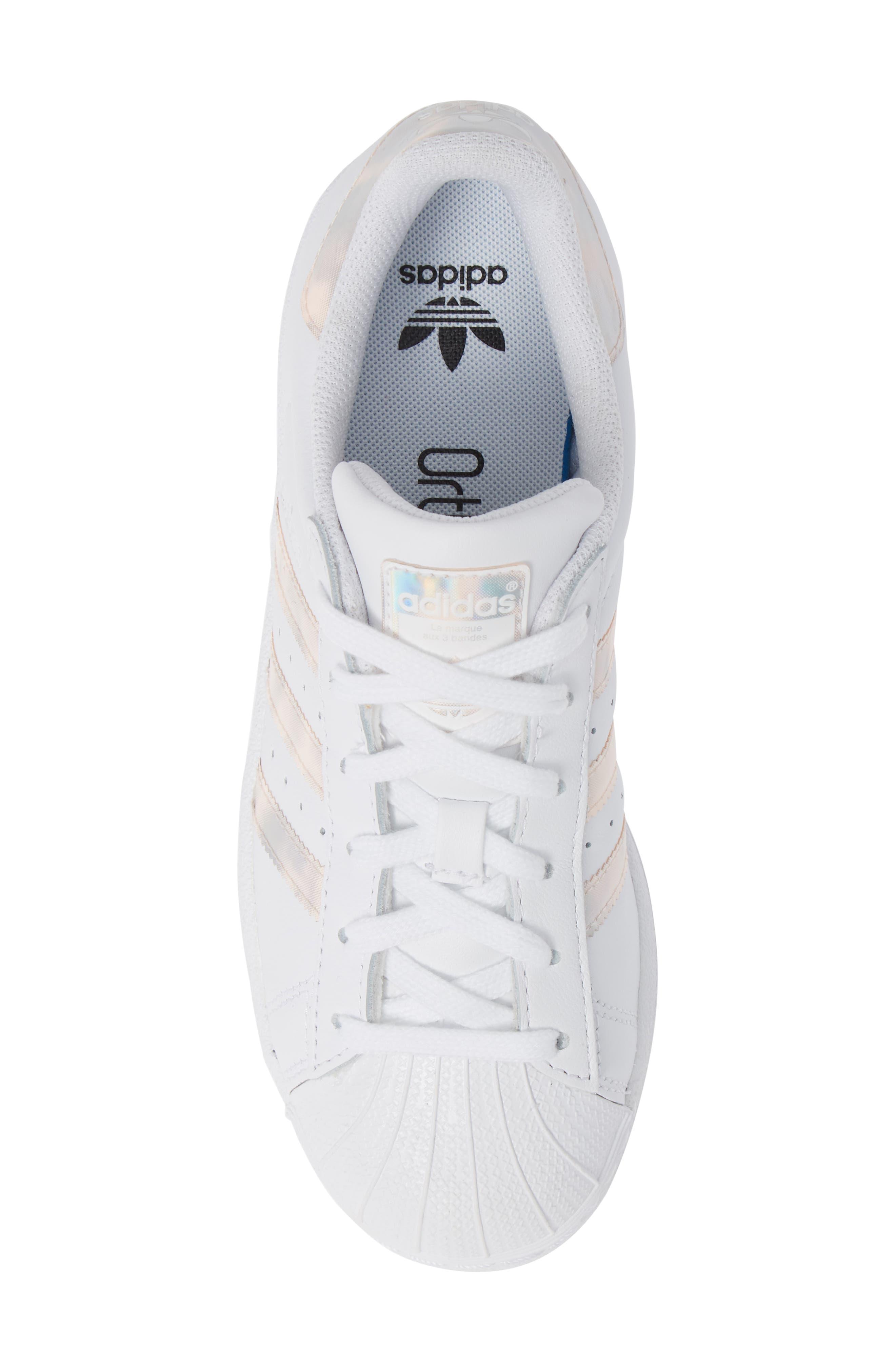'Superstar II' Sneaker,                             Alternate thumbnail 5, color,                             FTWR WHITE