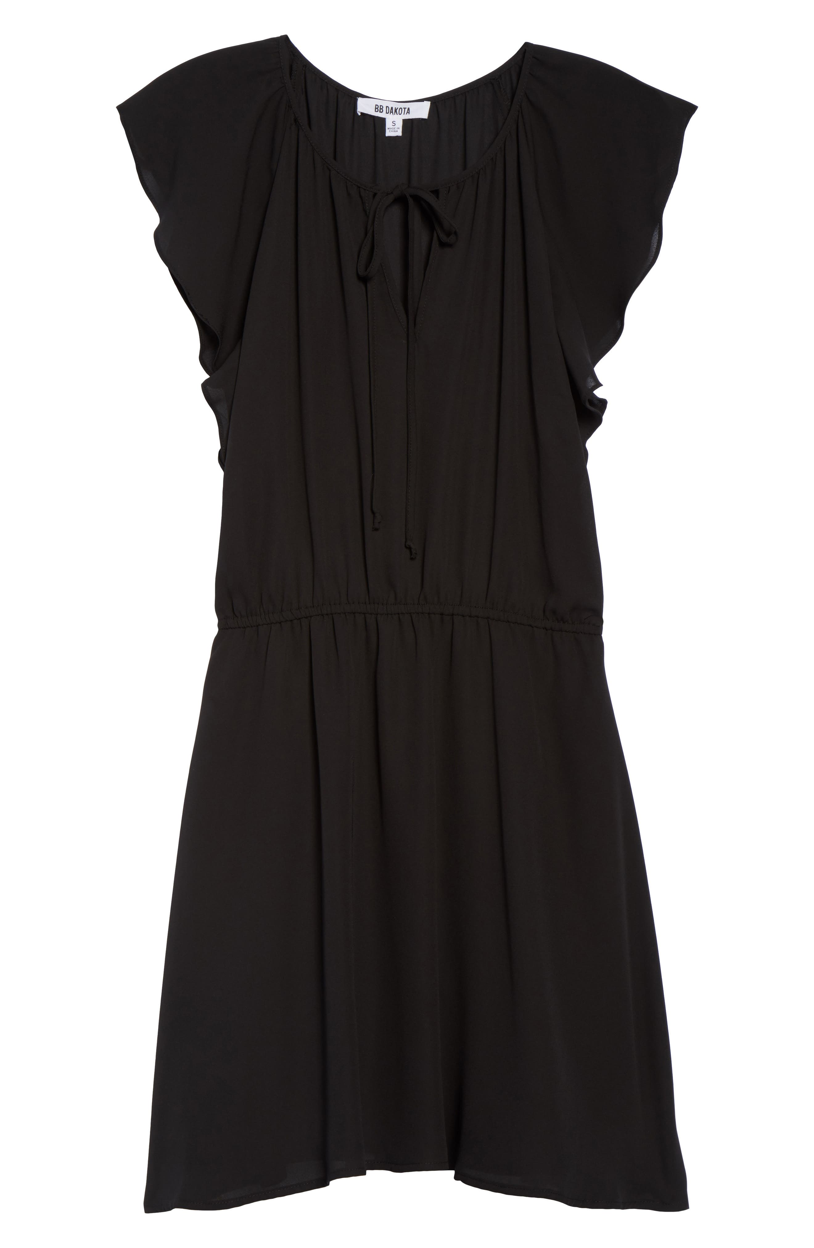 Adrienn Blouson Dress,                             Alternate thumbnail 6, color,                             001