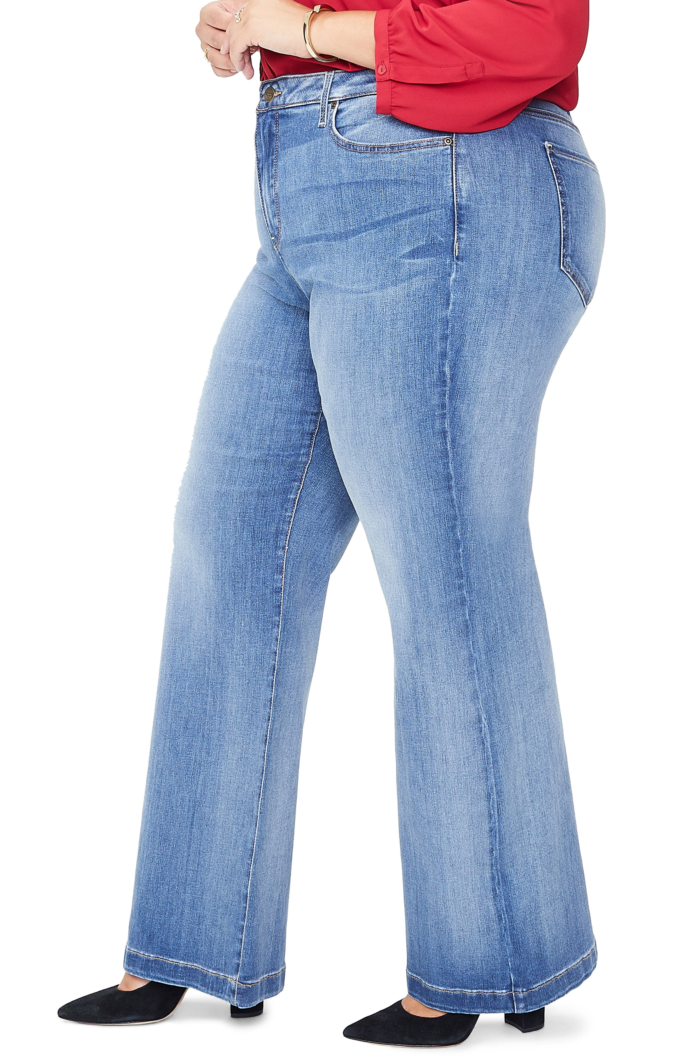 Wide Leg Jeans,                             Alternate thumbnail 3, color,                             CLEAN CABRILLO