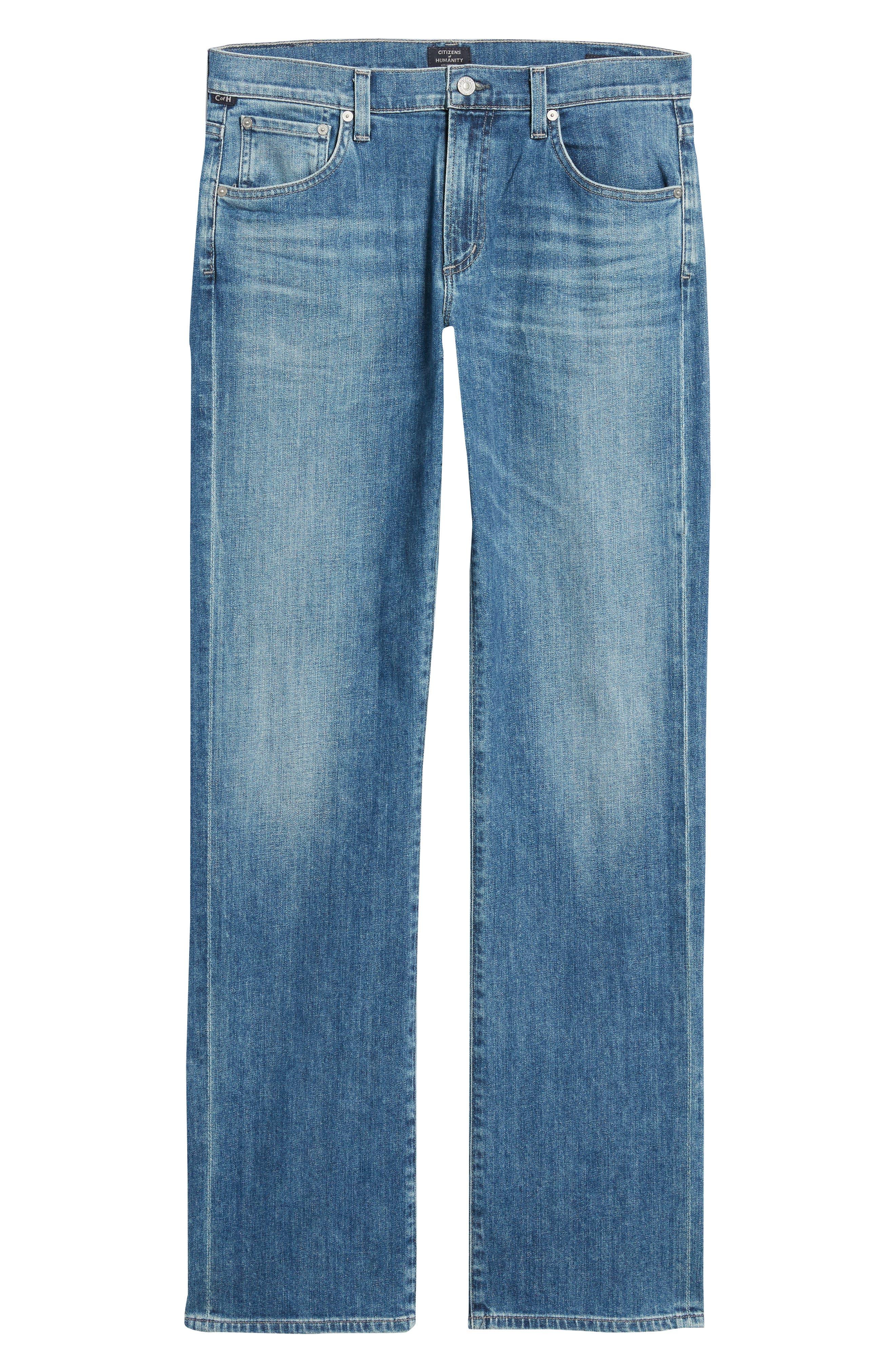 Sid Straight Leg Jeans,                             Alternate thumbnail 6, color,                             YUKON