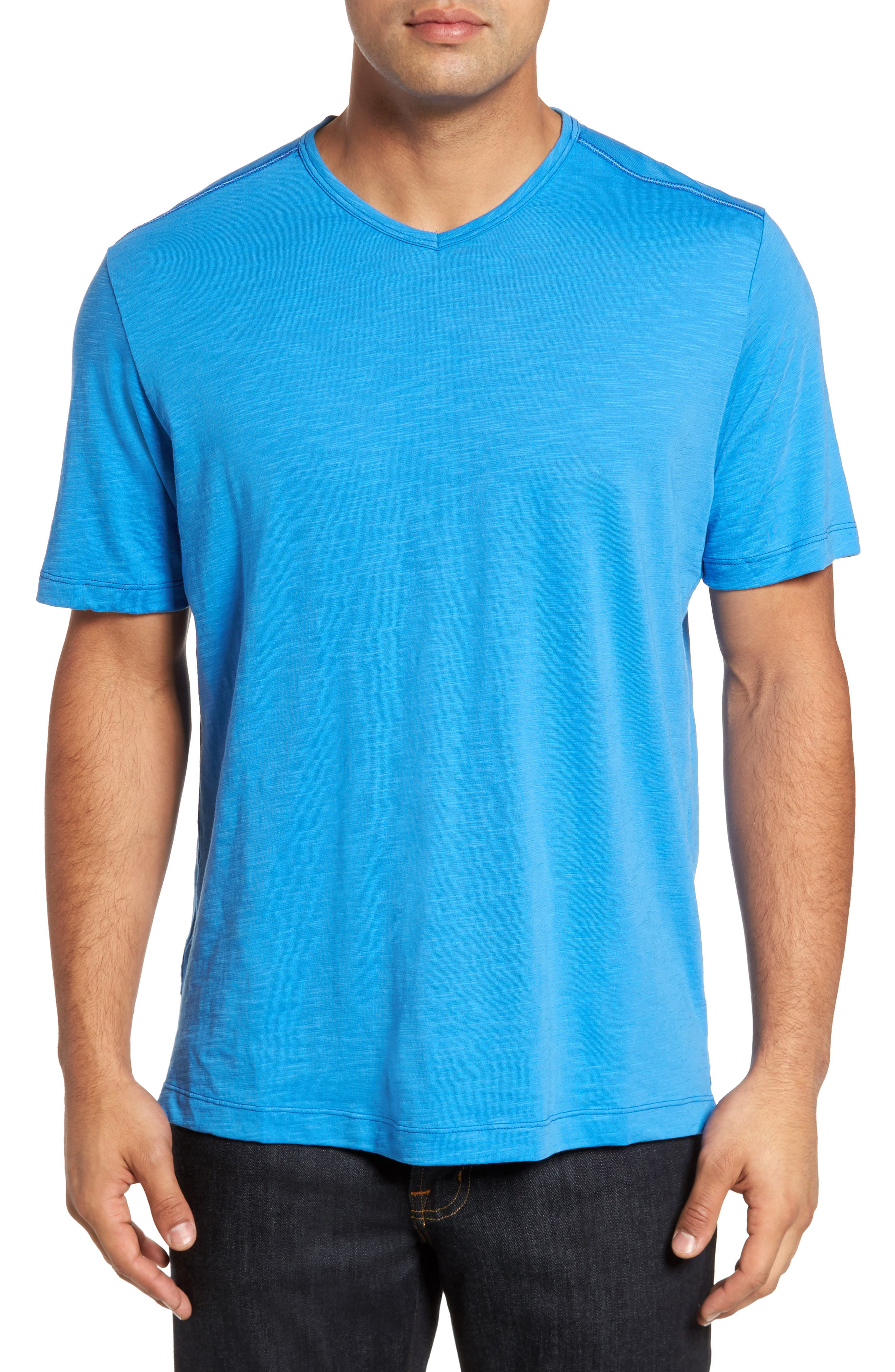 'Portside Player' Pima Cotton T-Shirt,                         Main,                         color, 401