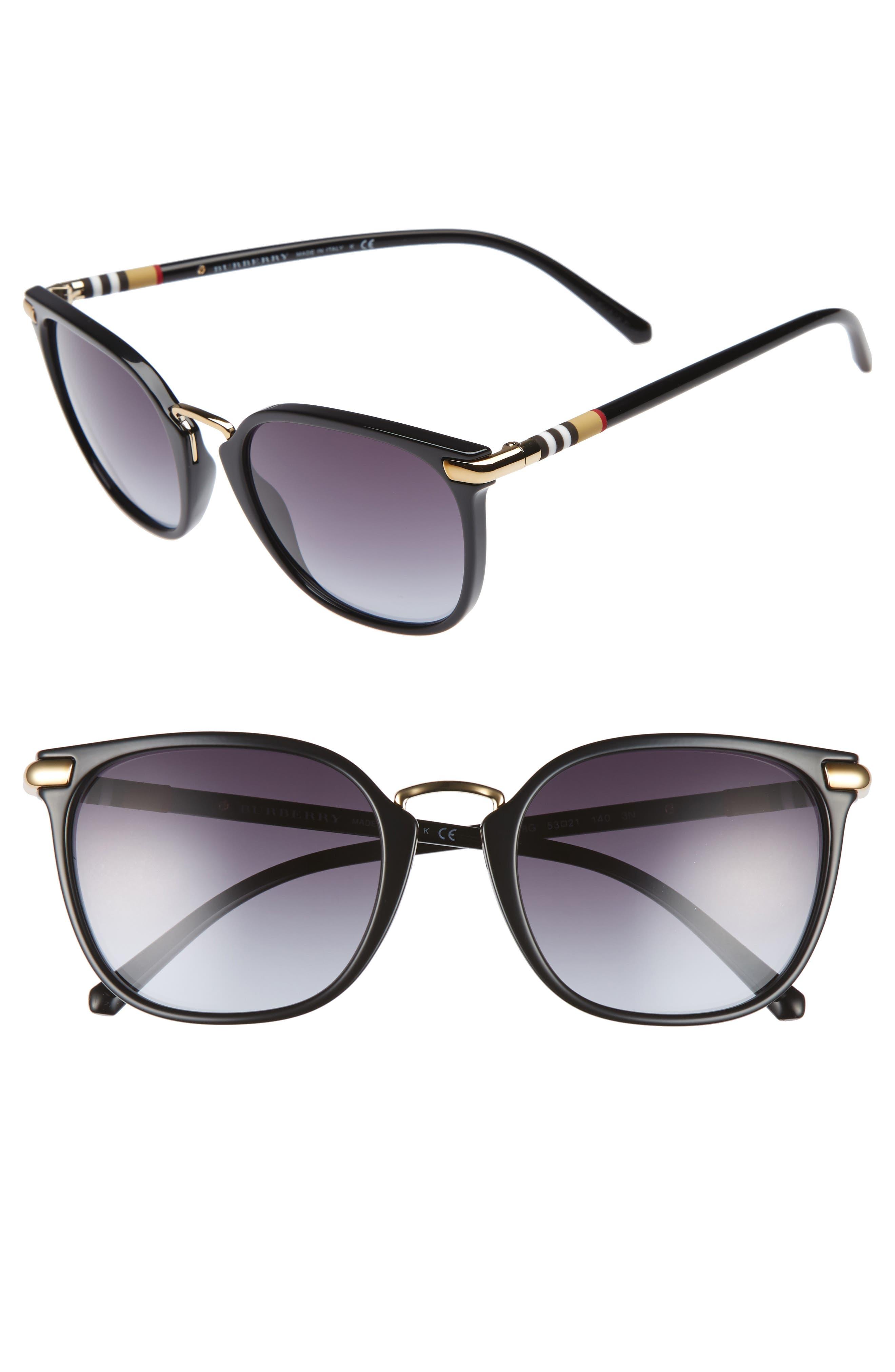 53mm Gradient Square Sunglasses,                             Main thumbnail 1, color,