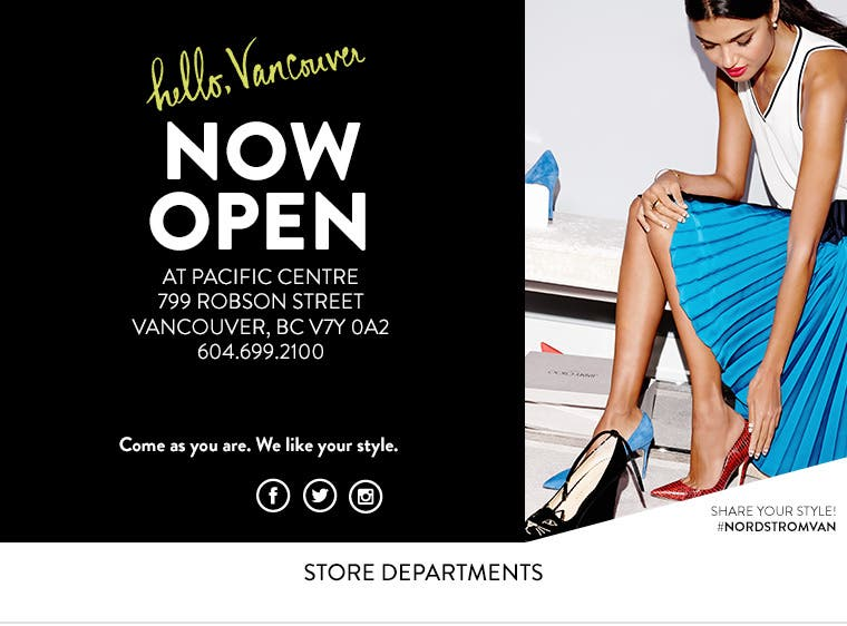 Nordstrom Canada Vancouver Store Departments - Commercial invoice template excel free download goyard online store