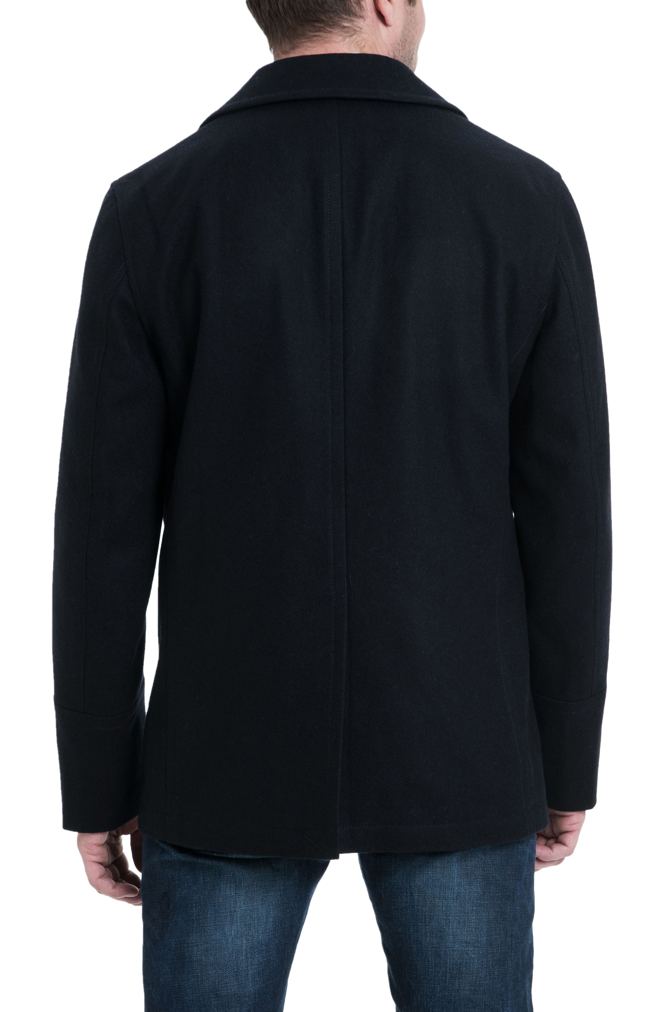 Wool Blend Double Breasted Peacoat,                             Alternate thumbnail 45, color,