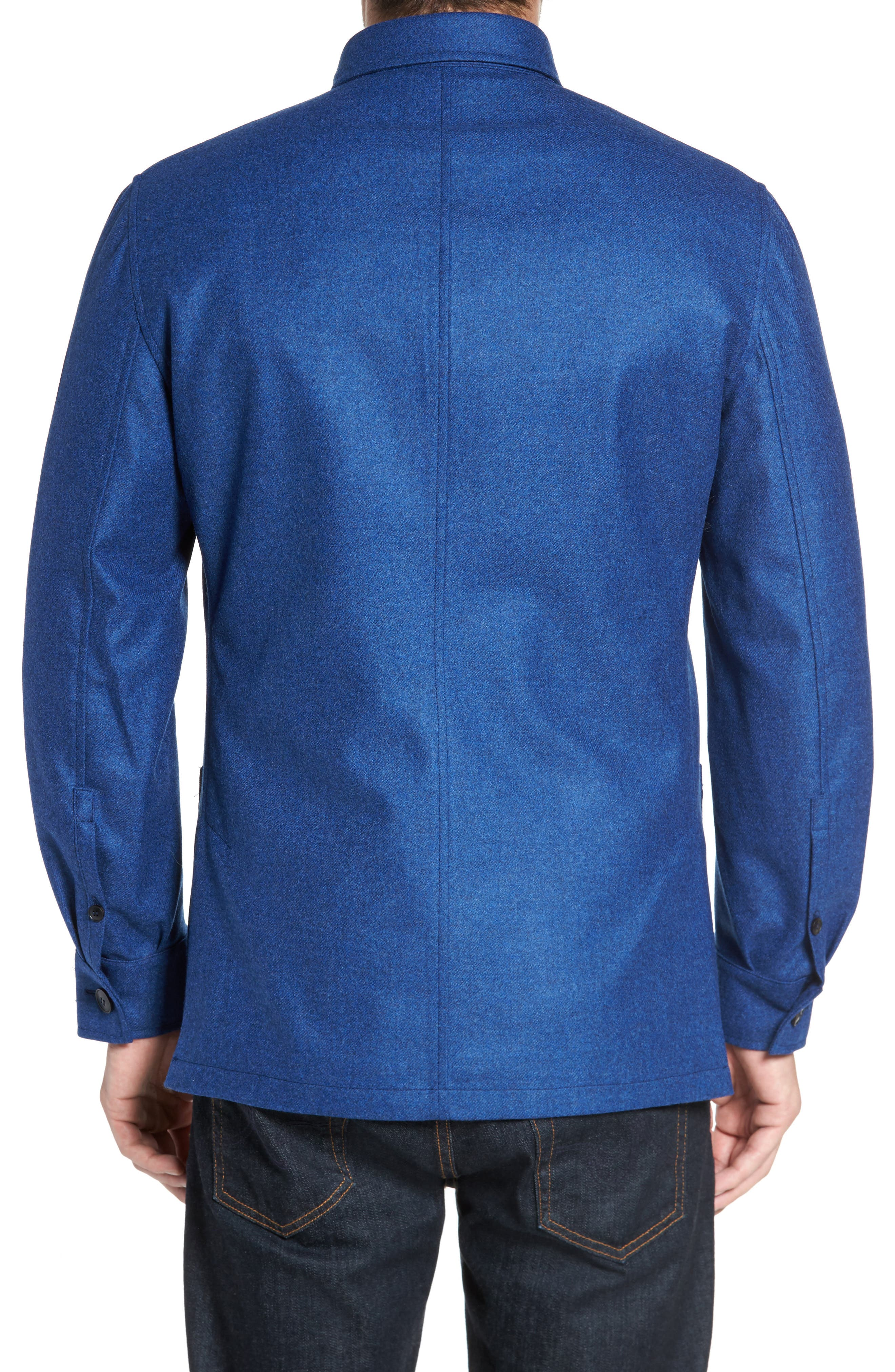 Loro Piana Storm System Shirt Jacket,                             Alternate thumbnail 9, color,