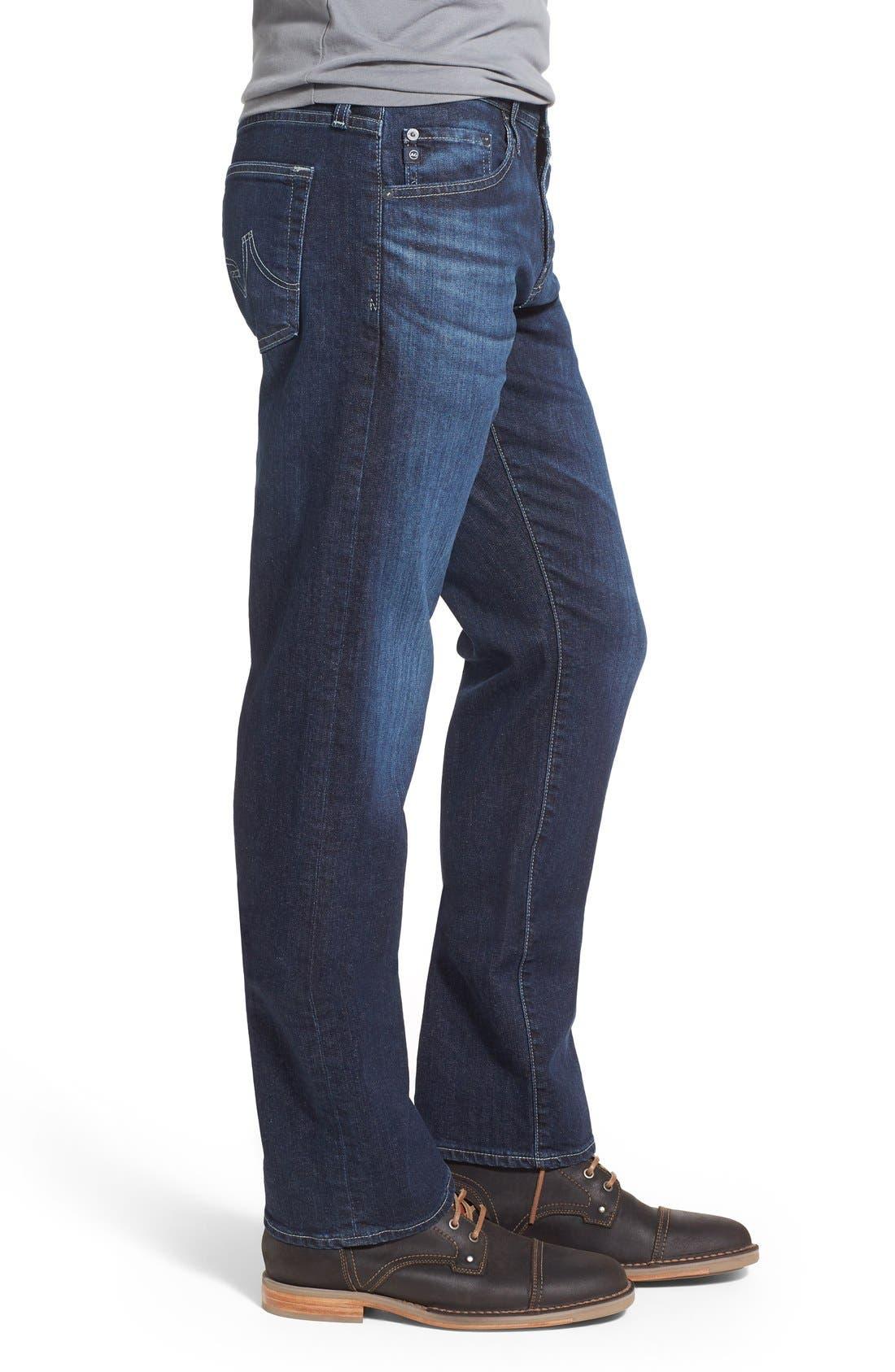 'Protégé' Straight Leg Jeans,                             Alternate thumbnail 3, color,                             402