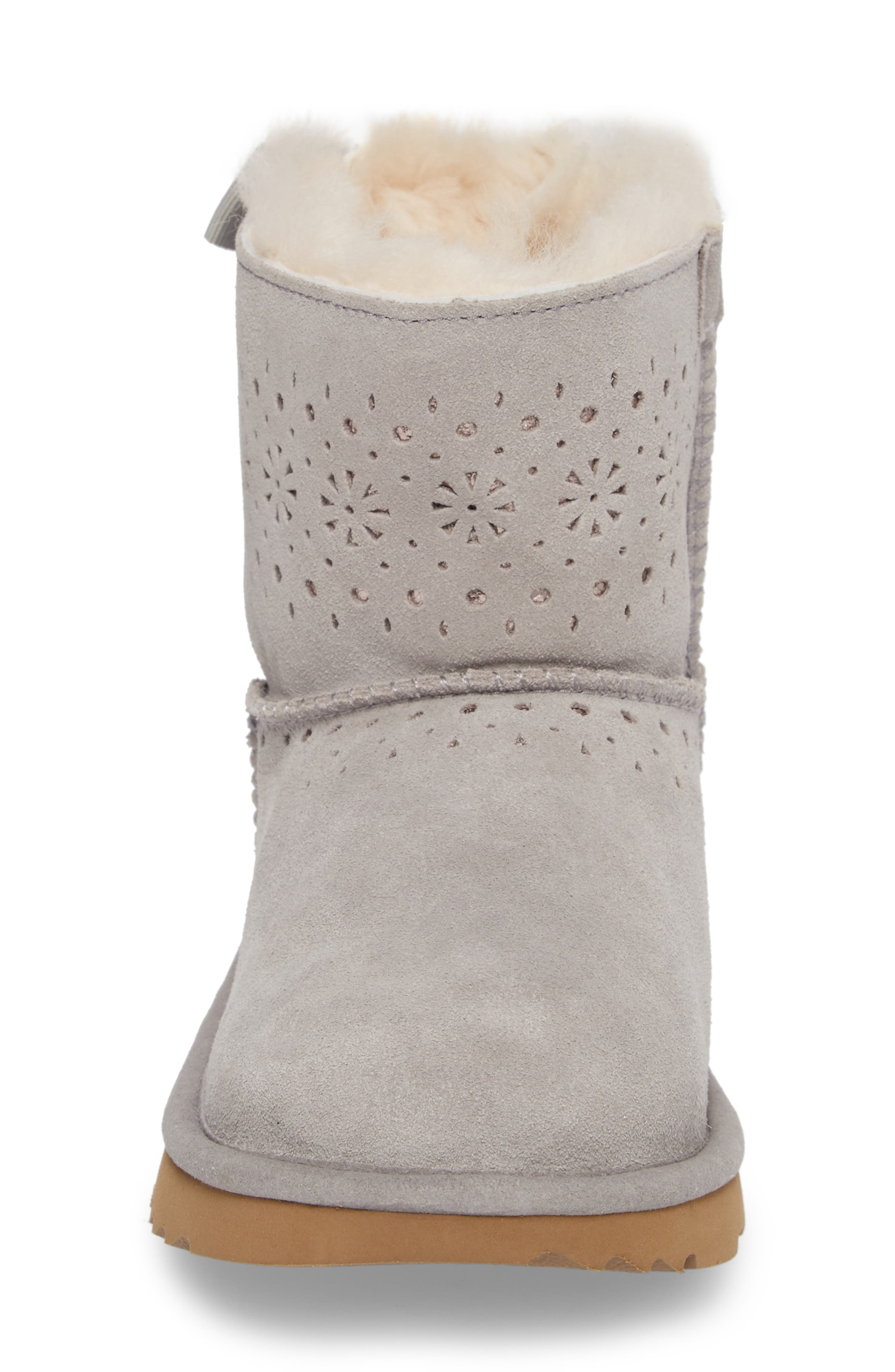 UGG<SUP>®</SUP>,                             Dae Perforated Tie Back Boot,                             Alternate thumbnail 4, color,                             024