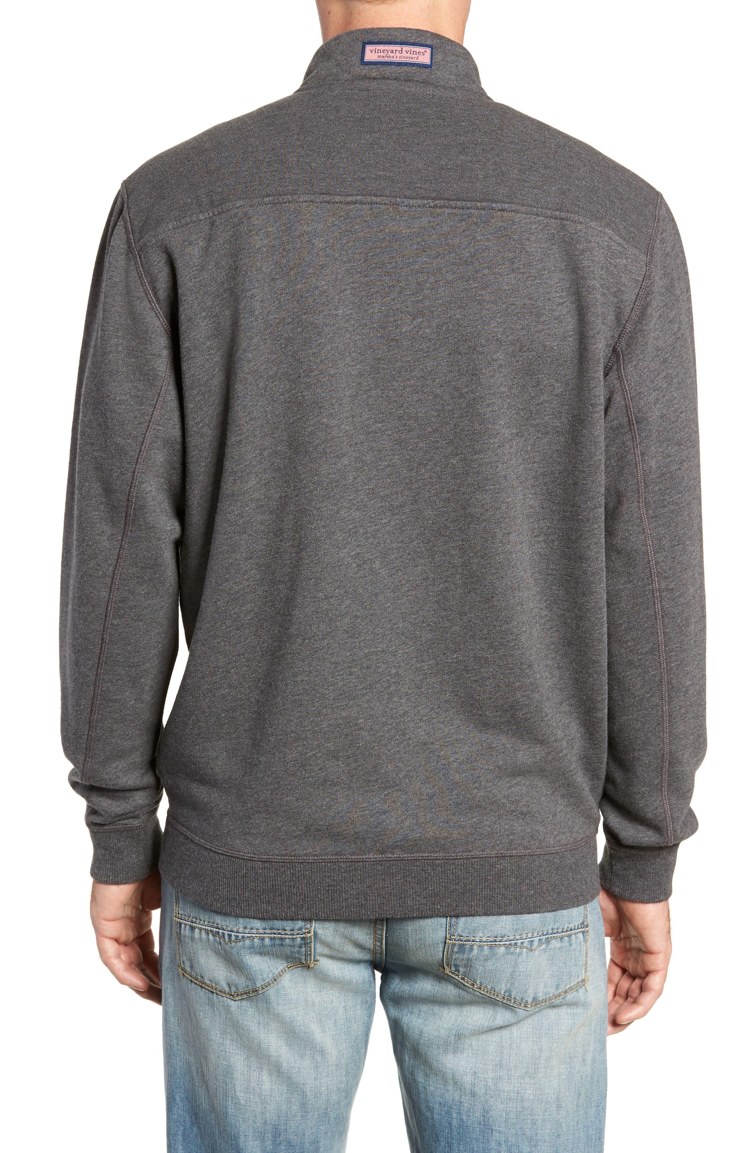 Quarter Zip Fleece Pullover,                             Alternate thumbnail 2, color,                             PEBBLE