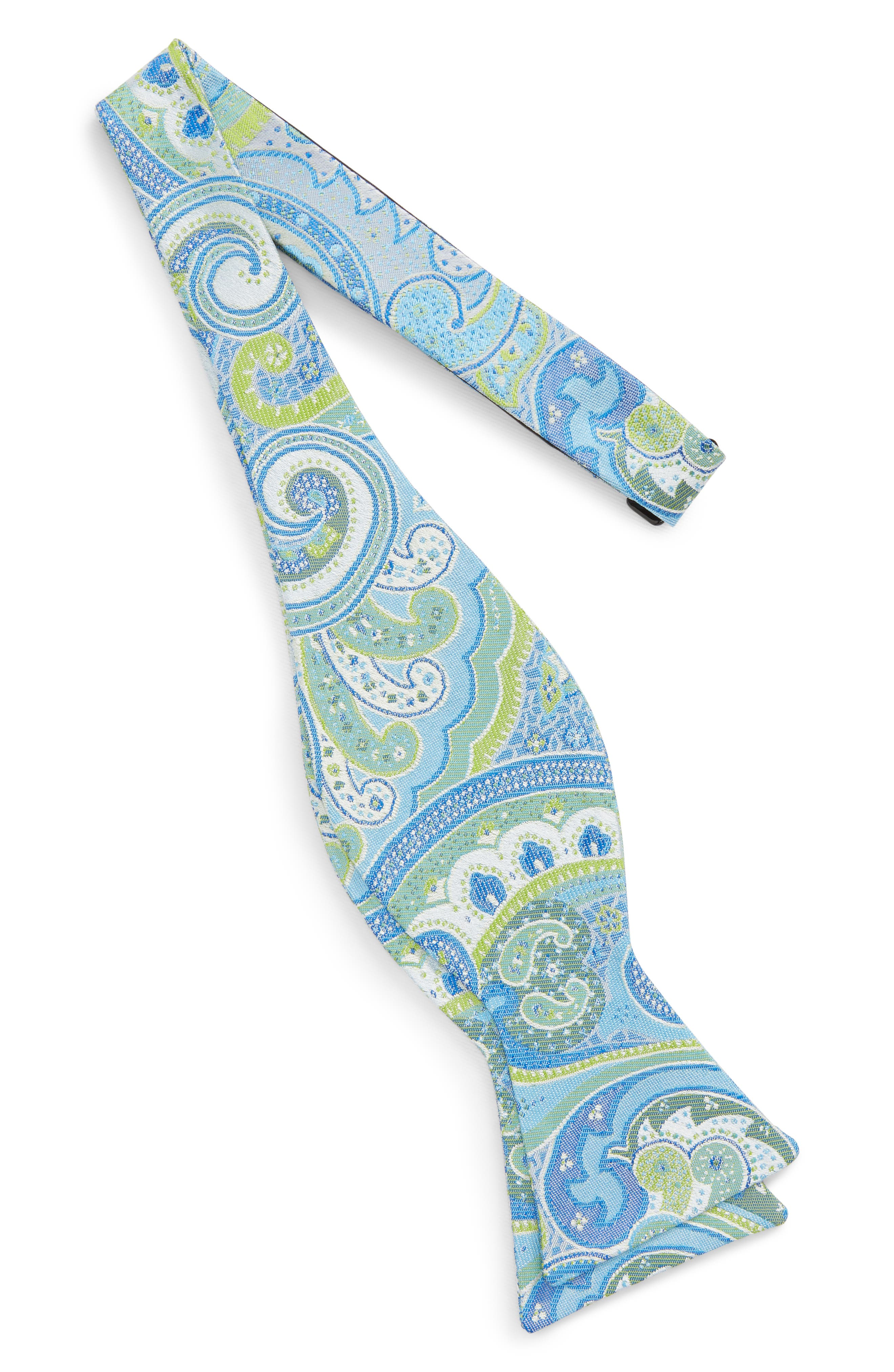 Paisley Silk Bow Tie,                             Alternate thumbnail 5, color,