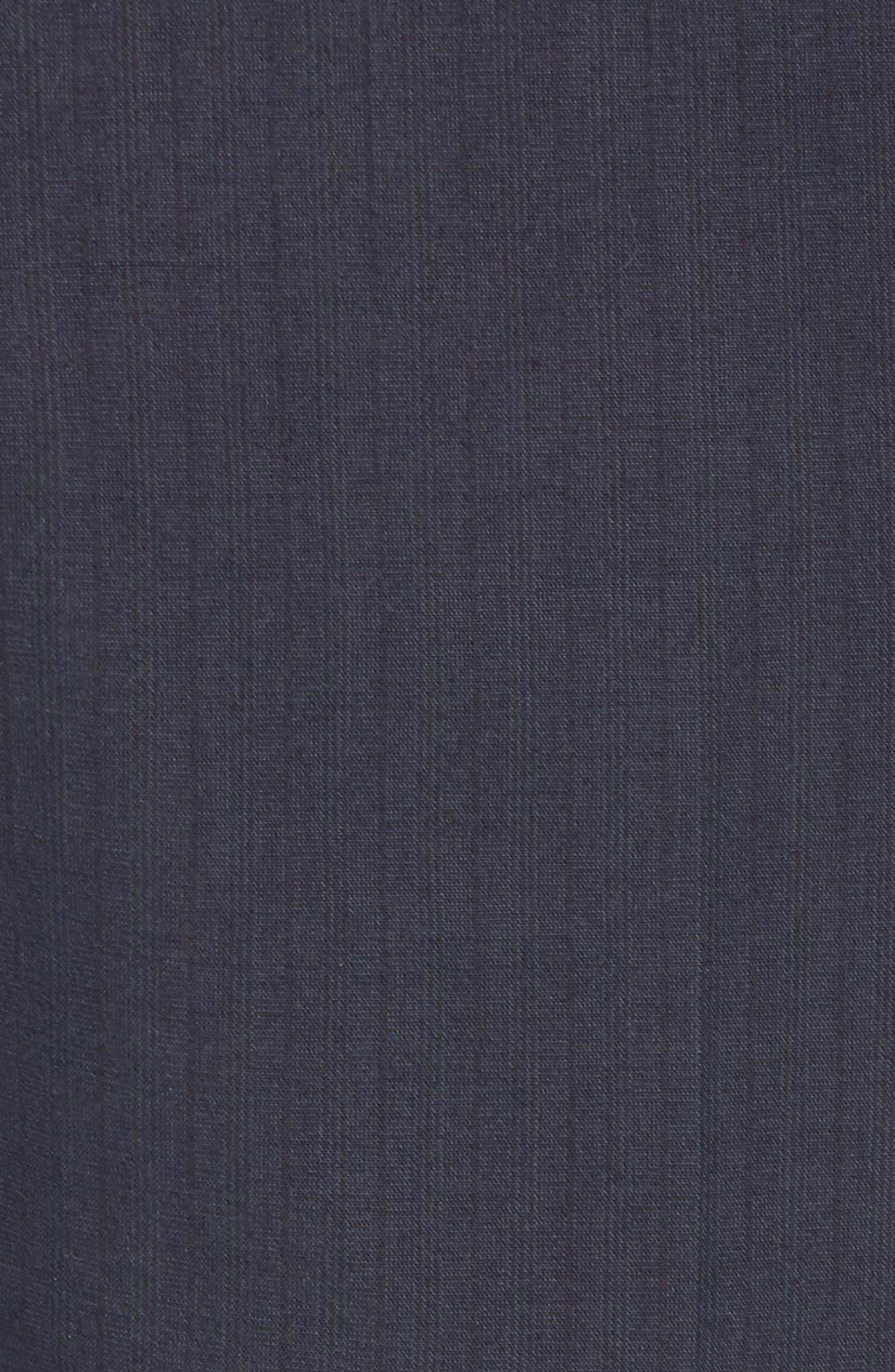 Flat Front Stripe Stretch Cotton Trousers,                             Alternate thumbnail 5, color,                             422