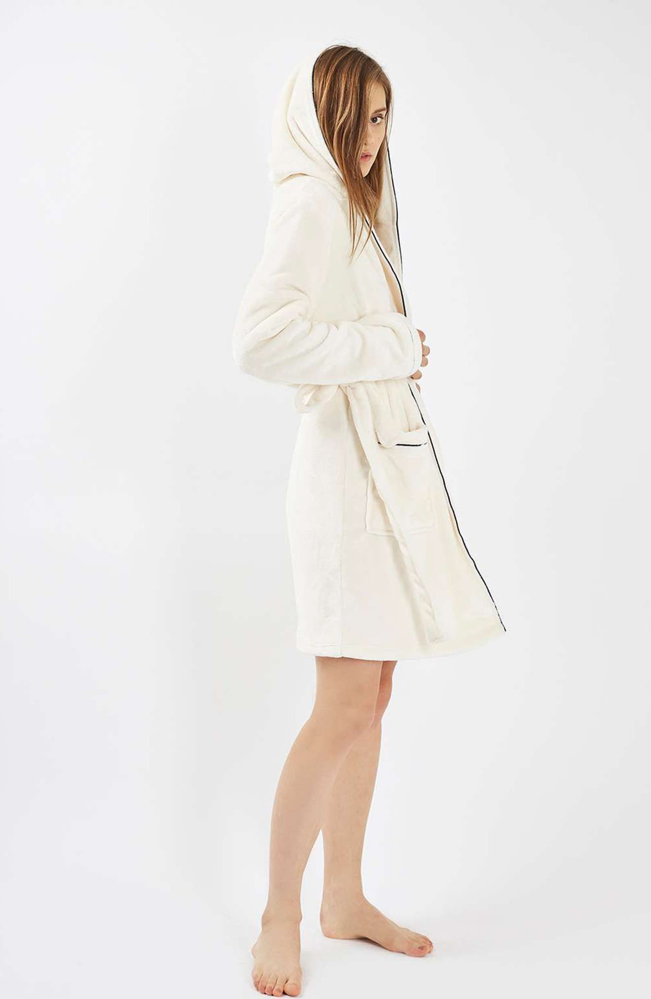 TOPSHOP,                             Not a Morning Person Hooded Robe,                             Alternate thumbnail 2, color,                             900